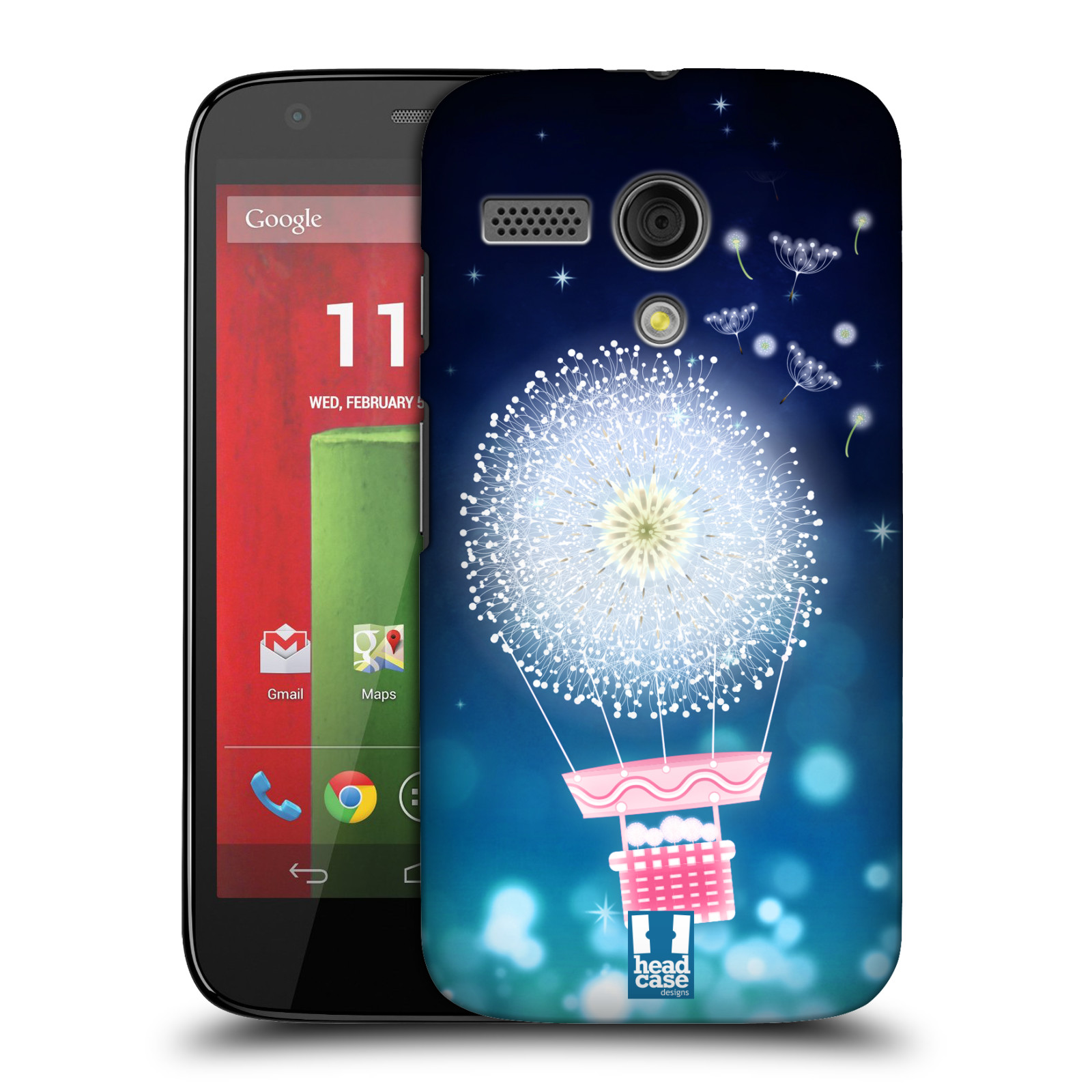 Plastové pouzdro na mobil Motorola Moto G HEAD CASE Pampeliškový balón (Kryt či obal na mobilní telefon Motorola Moto G)