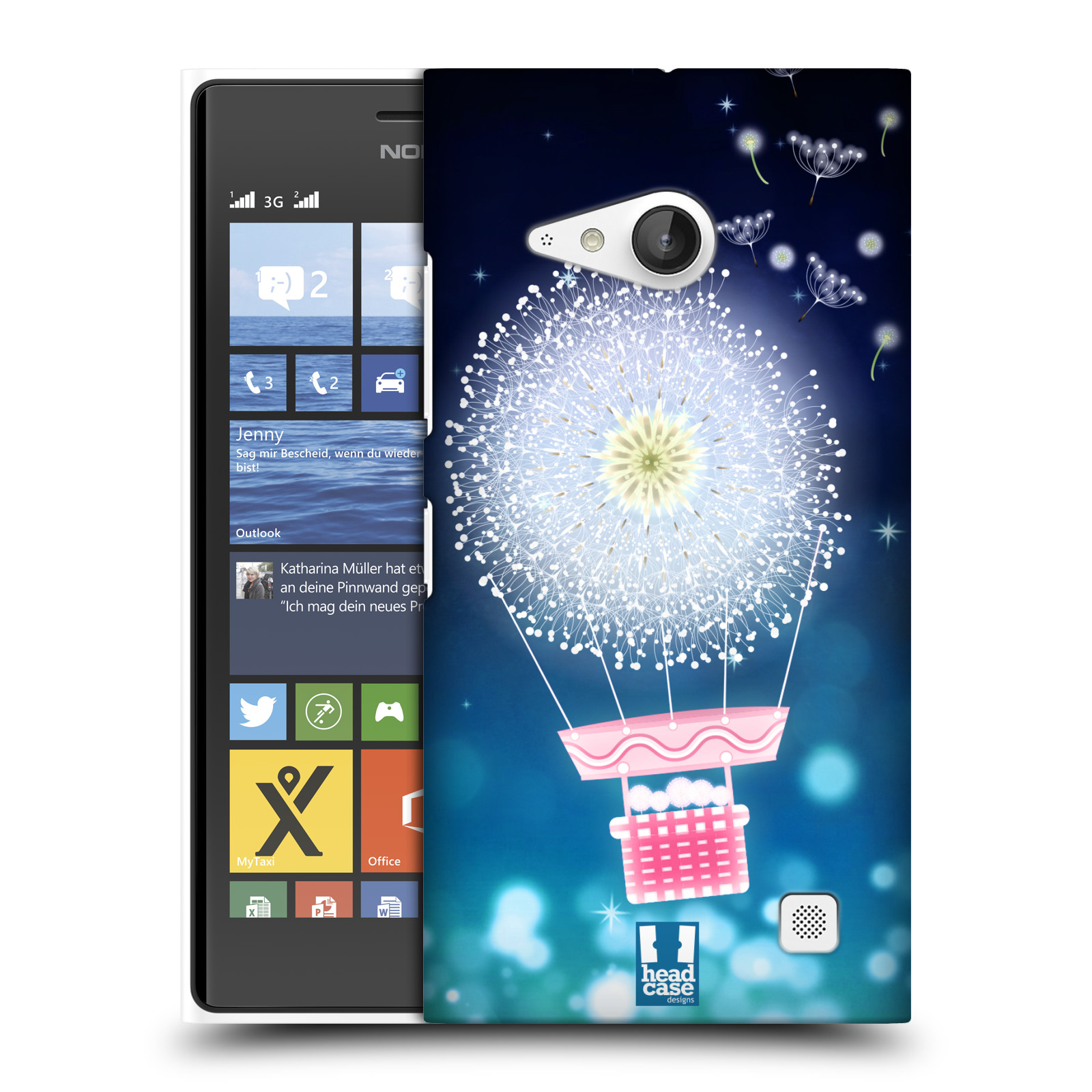 Plastové pouzdro na mobil Nokia Lumia 730 Dual SIM HEAD CASE Pampeliškový balón (Kryt či obal na mobilní telefon Nokia Lumia 730 Dual SIM)