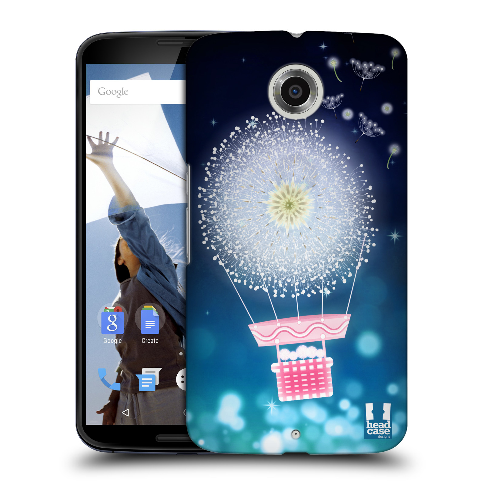 Plastové pouzdro na mobil Motorola Nexus 6 HEAD CASE Pampeliškový balón (Kryt či obal na mobilní telefon Motorola Nexus 6)