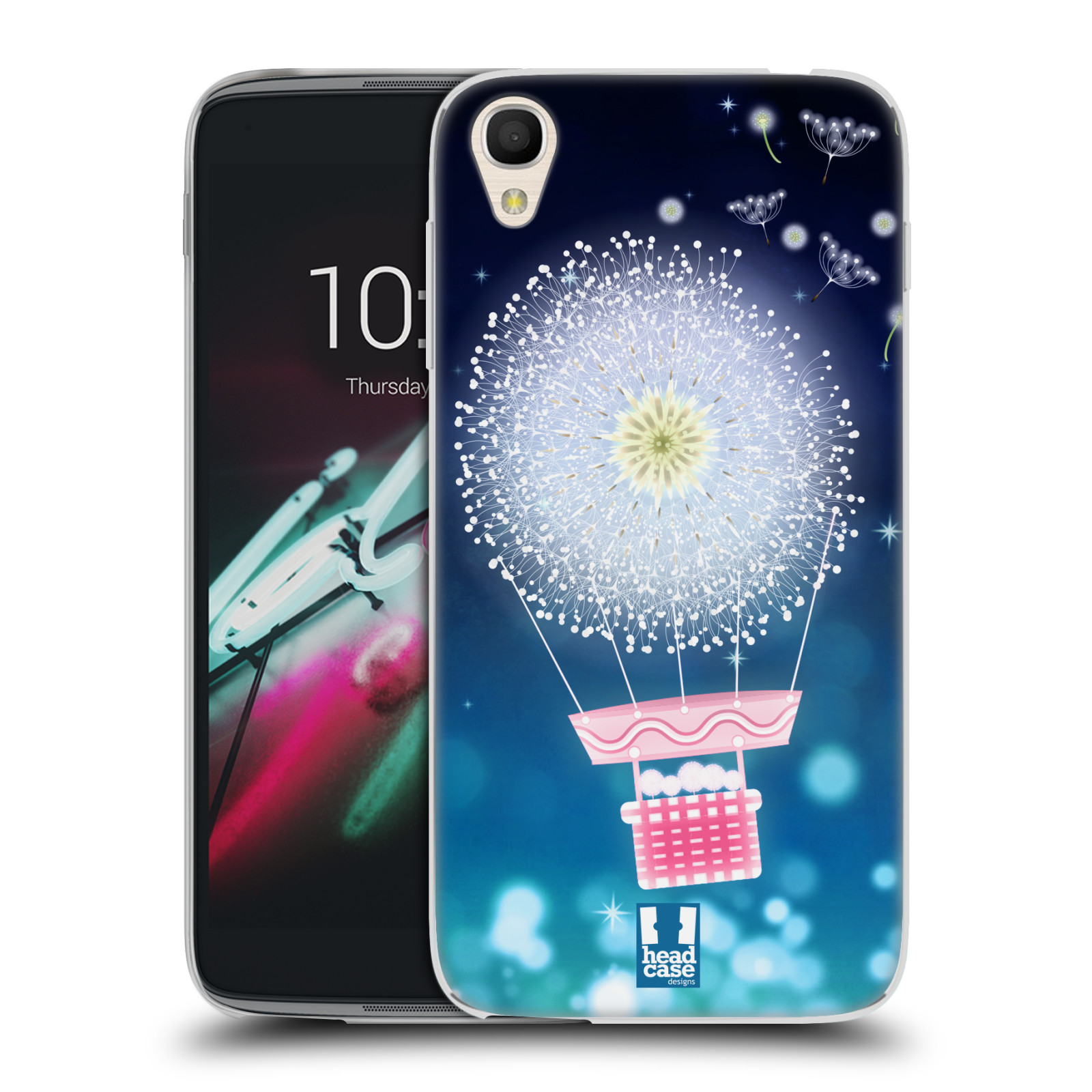 "Silikonové pouzdro na mobil Alcatel One Touch 6039Y Idol 3 HEAD CASE Pampeliškový balón (Silikonový kryt či obal na mobilní telefon Alcatel One Touch Idol 3 OT-6039Y s 4,7"" displejem)"