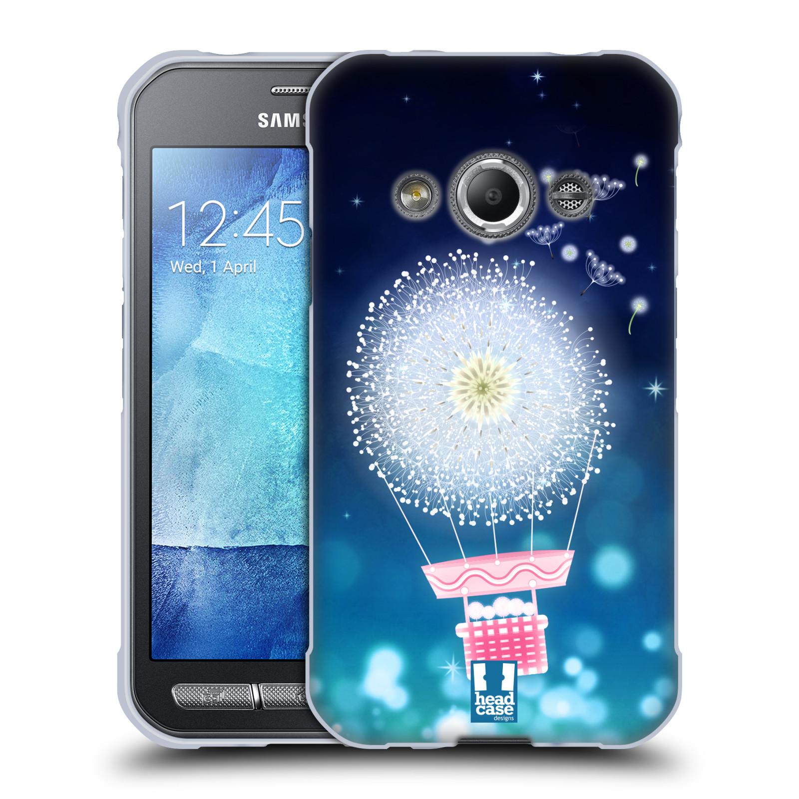 Silikonové pouzdro na mobil Samsung Galaxy Xcover 3 HEAD CASE Pampeliškový balón (Silikonový kryt či obal na mobilní telefon Samsung Galaxy Xcover 3 SM-G388F)