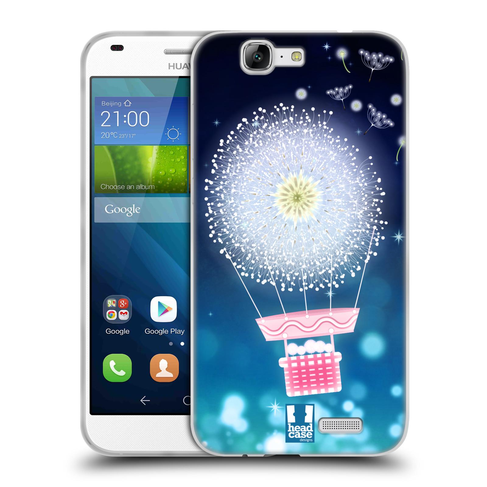 Silikonové pouzdro na mobil Huawei Ascend G7 HEAD CASE Pampeliškový balón (Silikonový kryt či obal na mobilní telefon Huawei Ascend G7)