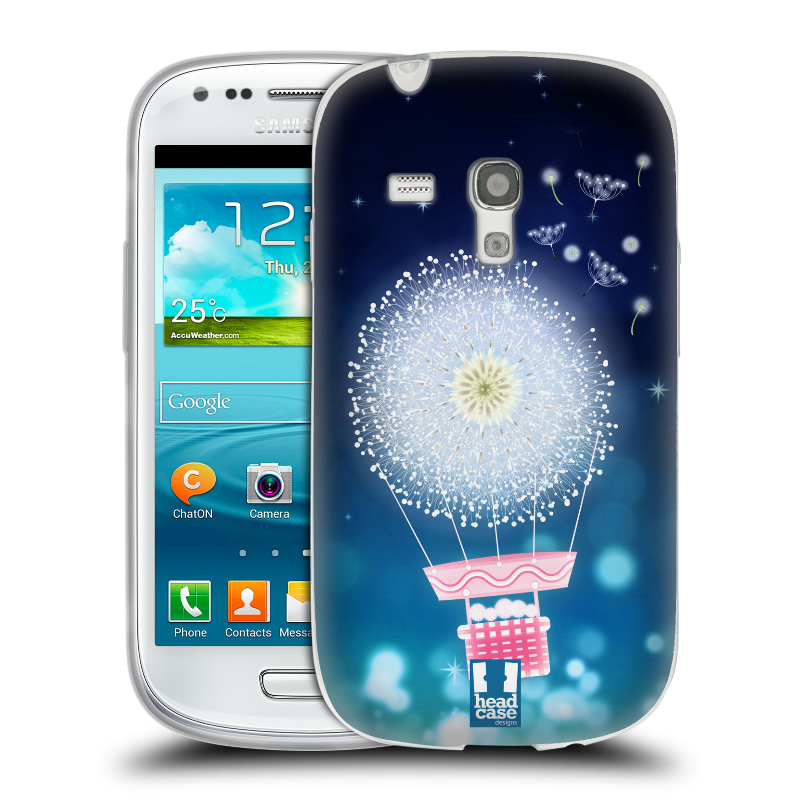 Silikonové pouzdro na mobil Samsung Galaxy S III Mini HEAD CASE Pampeliškový balón (Silikonový kryt či obal na mobilní telefon Samsung Galaxy S III Mini GT-i8190)