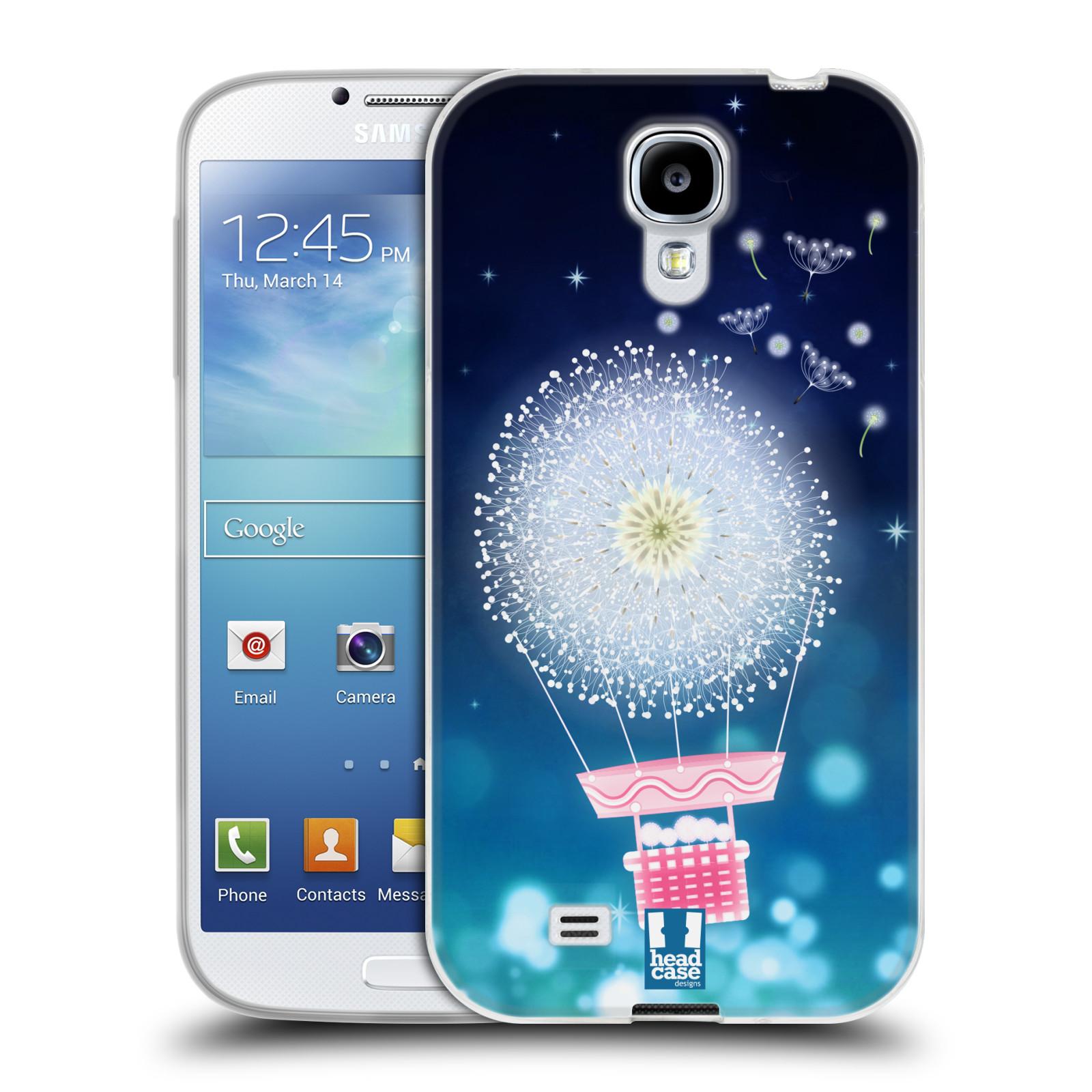 Silikonové pouzdro na mobil Samsung Galaxy S4 HEAD CASE Pampeliškový balón (Silikonový kryt či obal na mobilní telefon Samsung Galaxy S4 GT-i9505 / i9500)