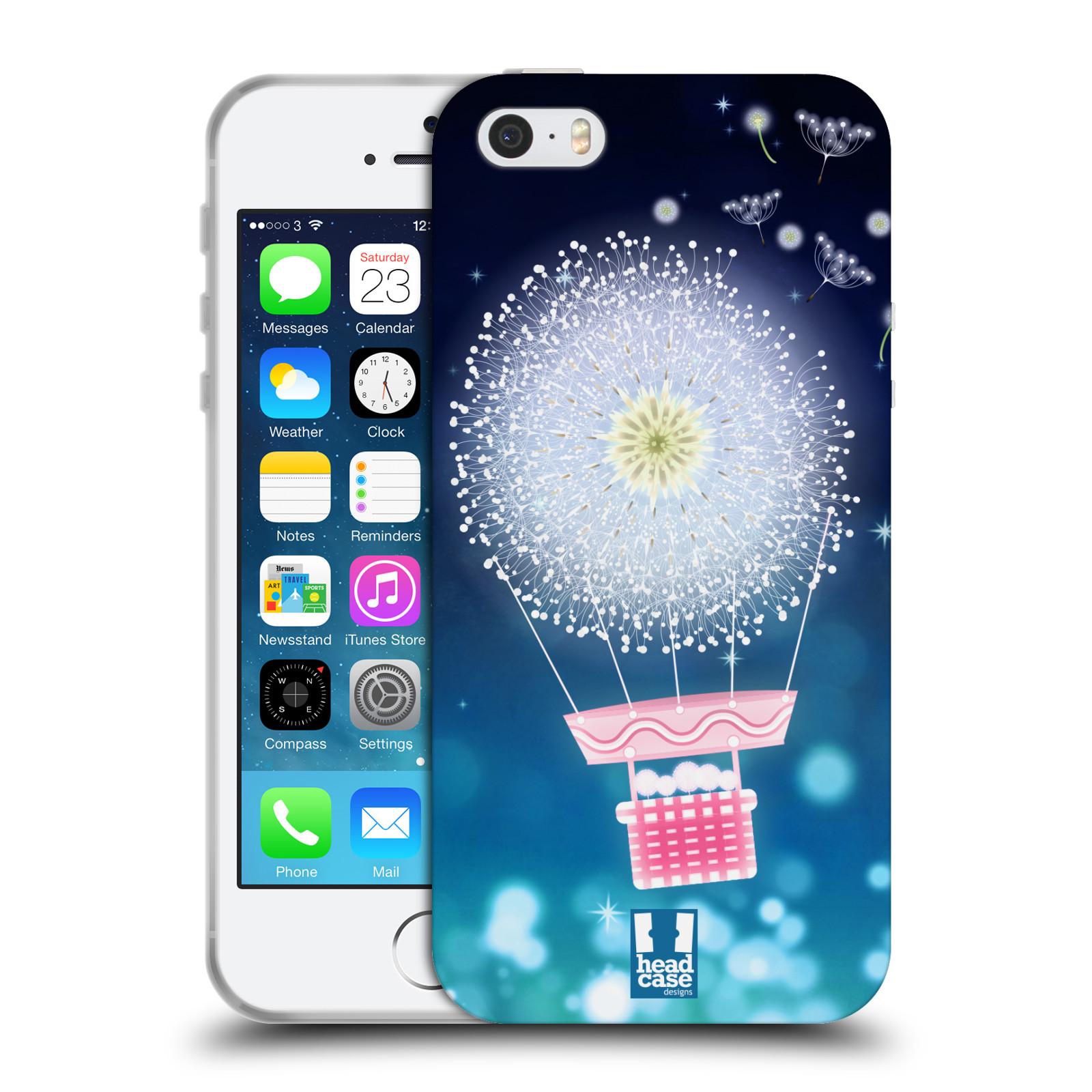 Silikonové pouzdro na mobil Apple iPhone SE, 5 a 5S HEAD CASE Pampeliškový balón (Silikonový kryt či obal na mobilní telefon Apple iPhone SE, 5 a 5S)