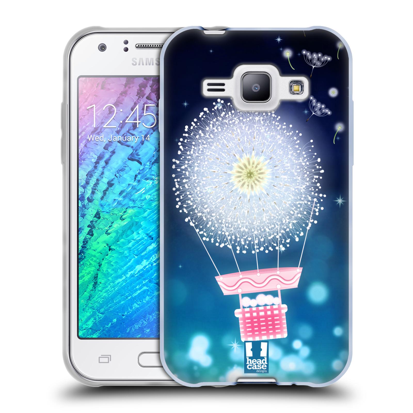Silikonové pouzdro na mobil Samsung Galaxy J1 HEAD CASE Pampeliškový balón (Silikonový kryt či obal na mobilní telefon Samsung Galaxy J1 a J1 Duos)