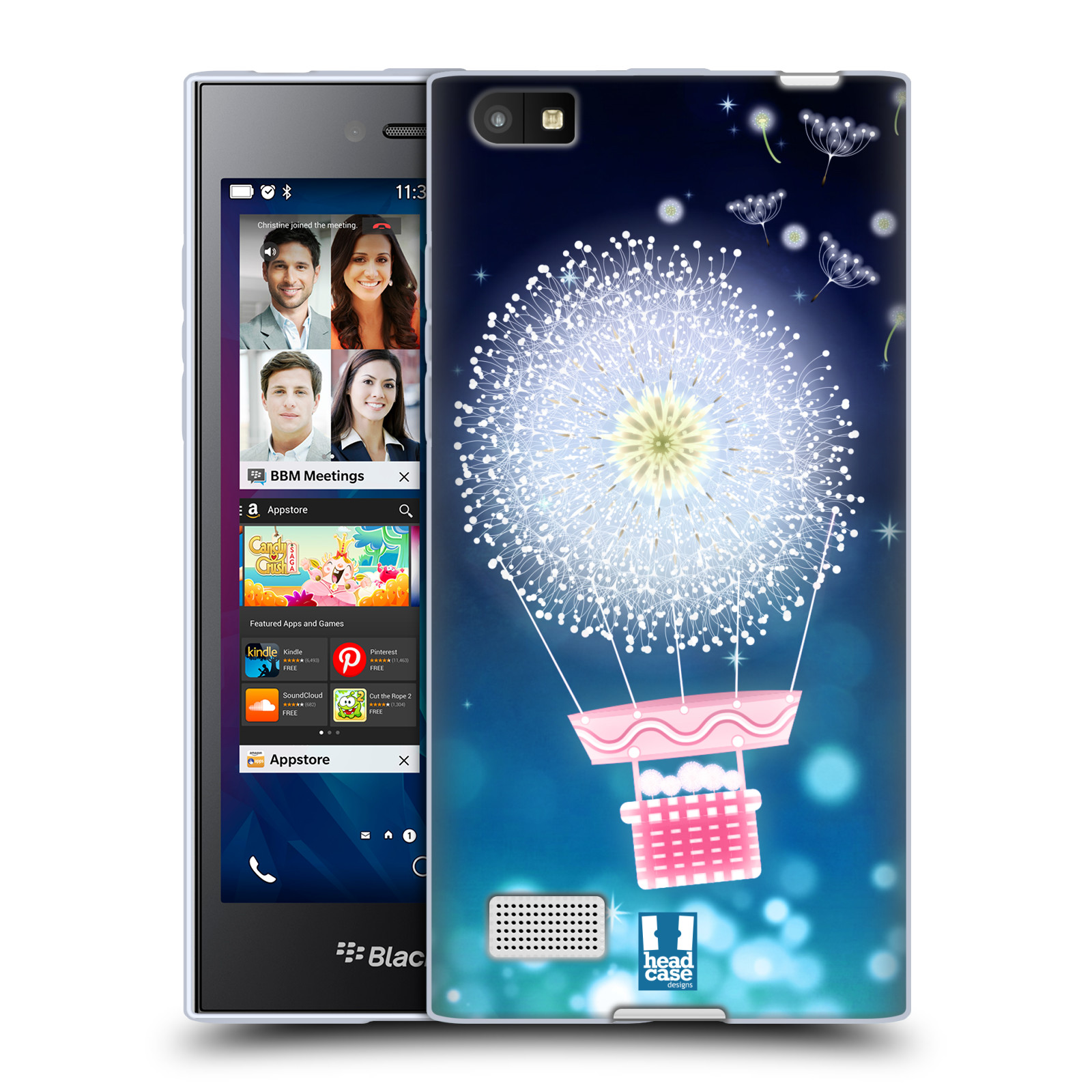 Silikonové pouzdro na mobil Blackberry Leap HEAD CASE Pampeliškový balón (Silikonový kryt či obal na mobilní telefon Blackberry Leap)