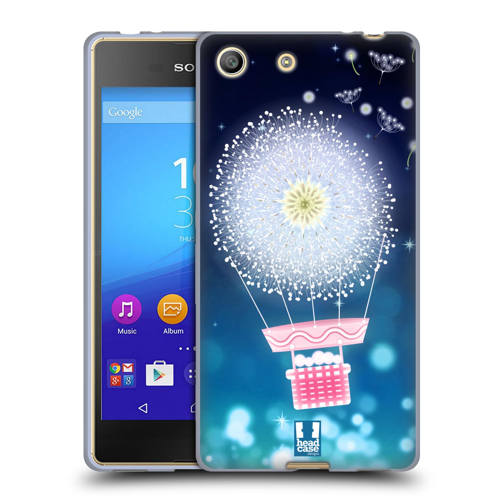 Silikonové pouzdro na mobil Sony Xperia M5 HEAD CASE Pampeliškový balón (Silikonový kryt či obal na mobilní telefon Sony Xperia M5 Dual SIM / Aqua)
