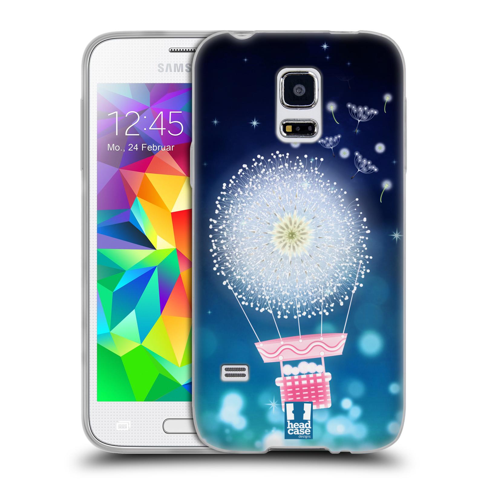 Silikonové pouzdro na mobil Samsung Galaxy S5 Mini HEAD CASE Pampeliškový balón (Silikonový kryt či obal na mobilní telefon Samsung Galaxy S5 Mini SM-G800F)