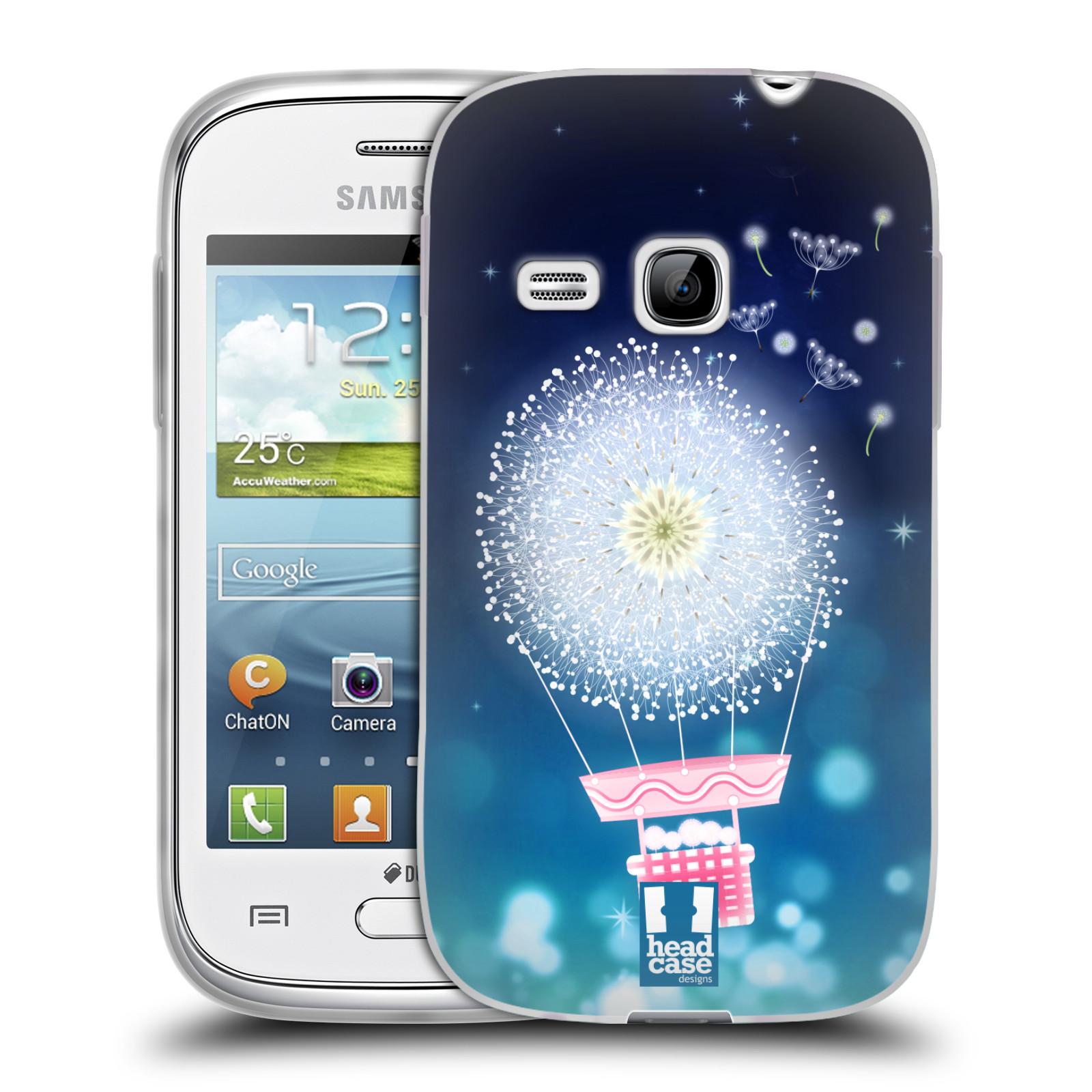 Silikonové pouzdro na mobil Samsung Galaxy Young HEAD CASE Pampeliškový balón (Silikonový kryt či obal na mobilní telefon Samsung Galaxy Young GT-S6310)