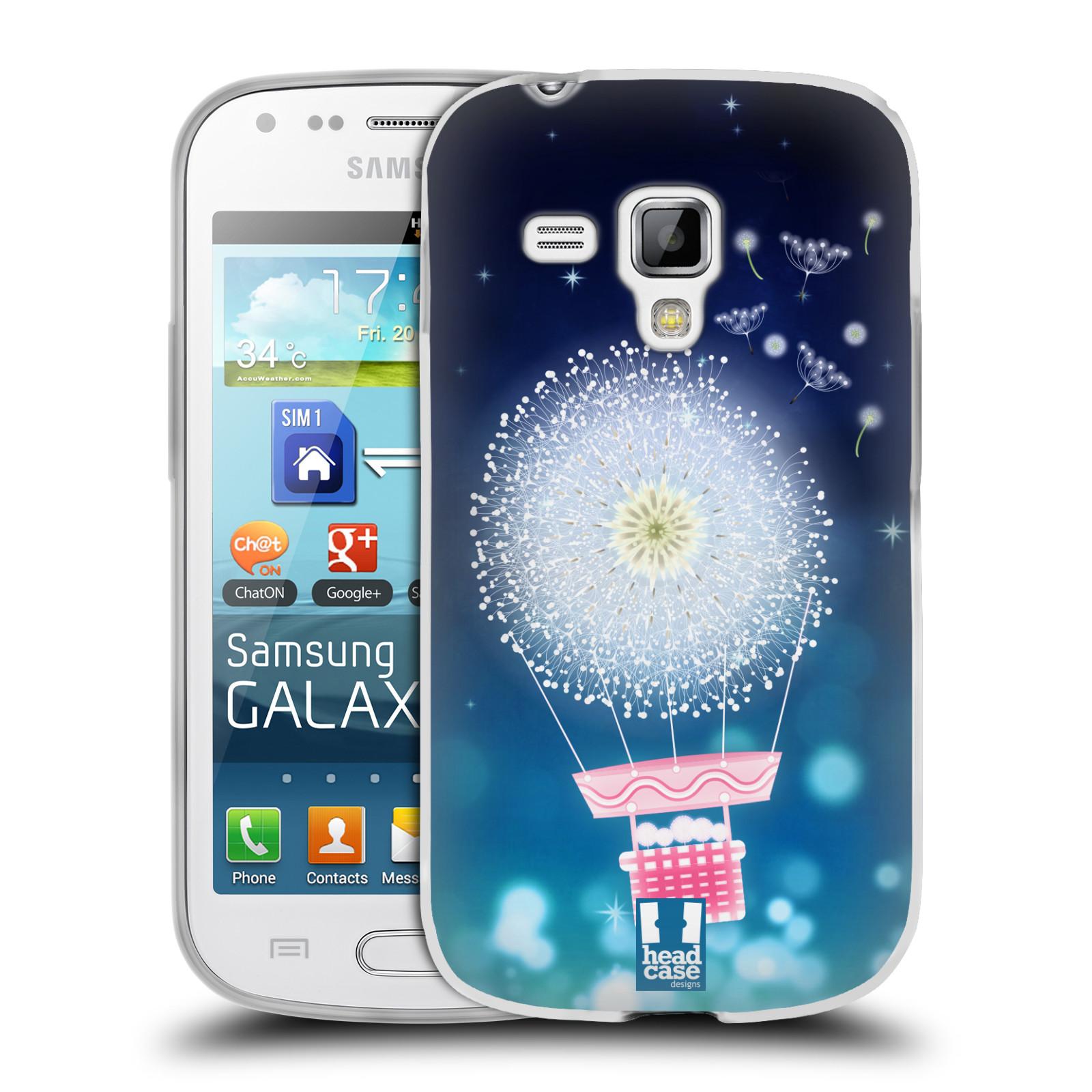 Silikonové pouzdro na mobil Samsung Galaxy S Duos HEAD CASE Pampeliškový balón (Silikonový kryt či obal na mobilní telefon Samsung Galaxy S Duos GT-S7562)