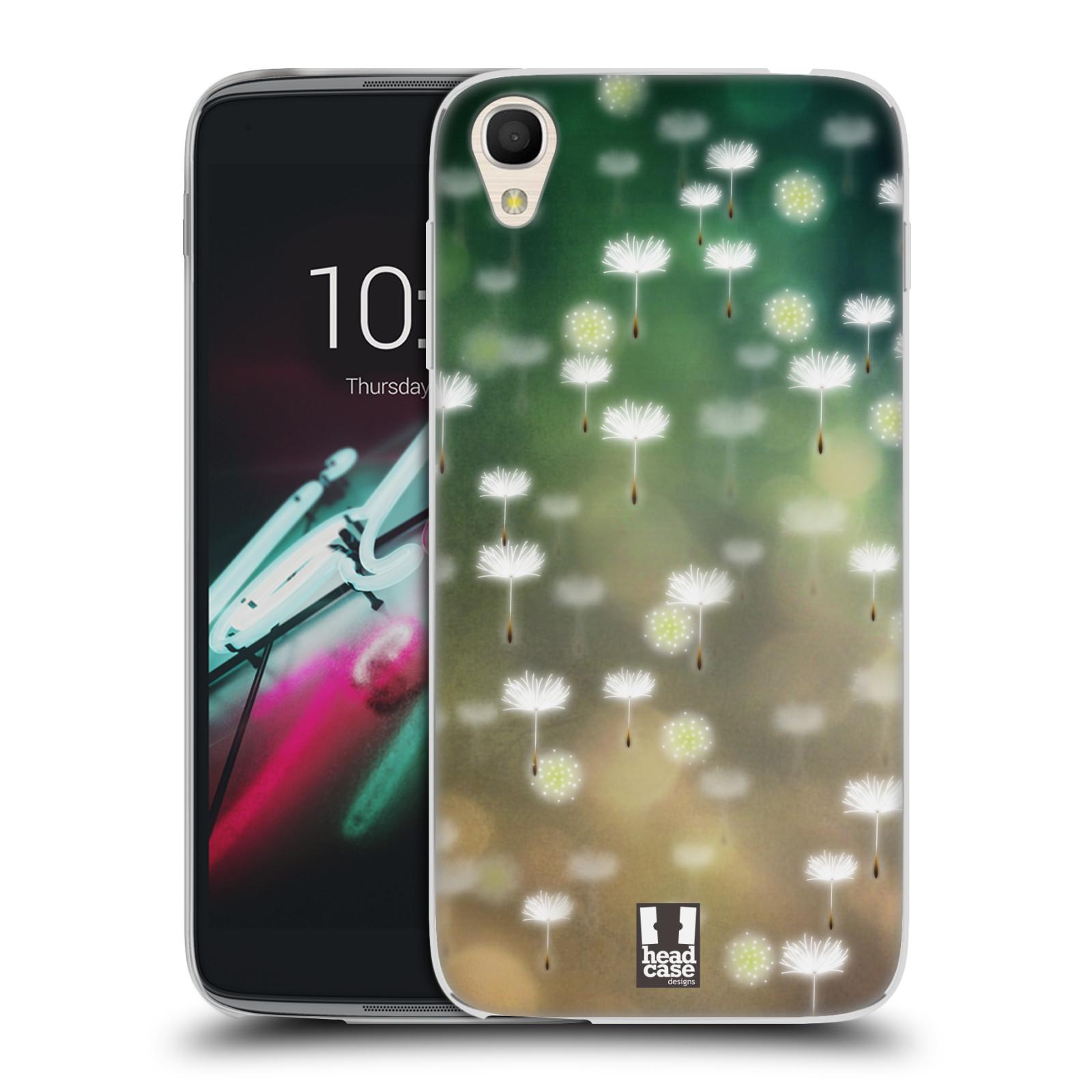 """Silikonové pouzdro na mobil Alcatel One Touch 6039Y Idol 3 HEAD CASE Pampeliškové padáčky (Silikonový kryt či obal na mobilní telefon Alcatel One Touch Idol 3 OT-6039Y s 4,7"""" displejem)"""