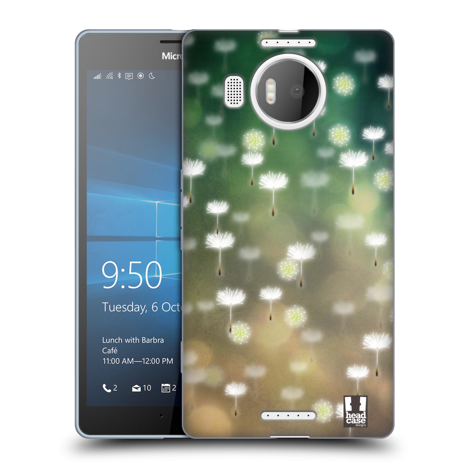 Silikonové pouzdro na mobil Microsoft Lumia 950 XL HEAD CASE Pampeliškové padáčky