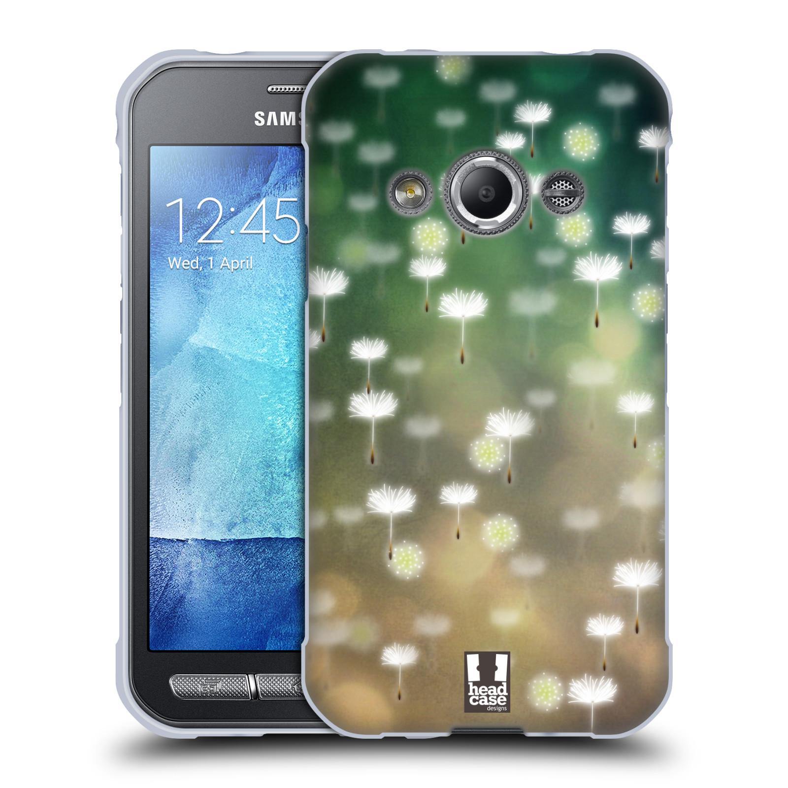 Silikonové pouzdro na mobil Samsung Galaxy Xcover 3 HEAD CASE Pampeliškové padáčky (Silikonový kryt či obal na mobilní telefon Samsung Galaxy Xcover 3 SM-G388F)