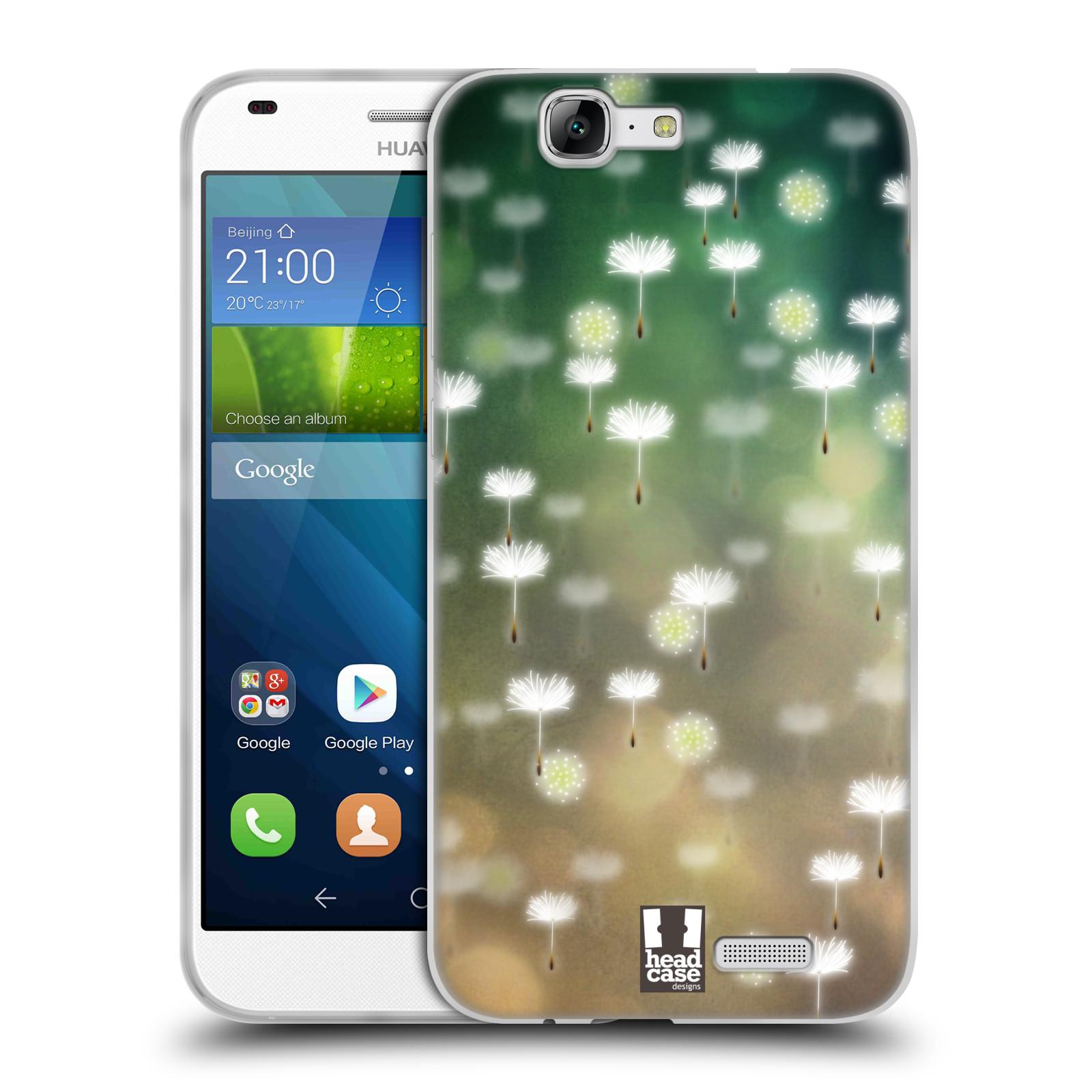 Silikonové pouzdro na mobil Huawei Ascend G7 HEAD CASE Pampeliškové padáčky (Silikonový kryt či obal na mobilní telefon Huawei Ascend G7)
