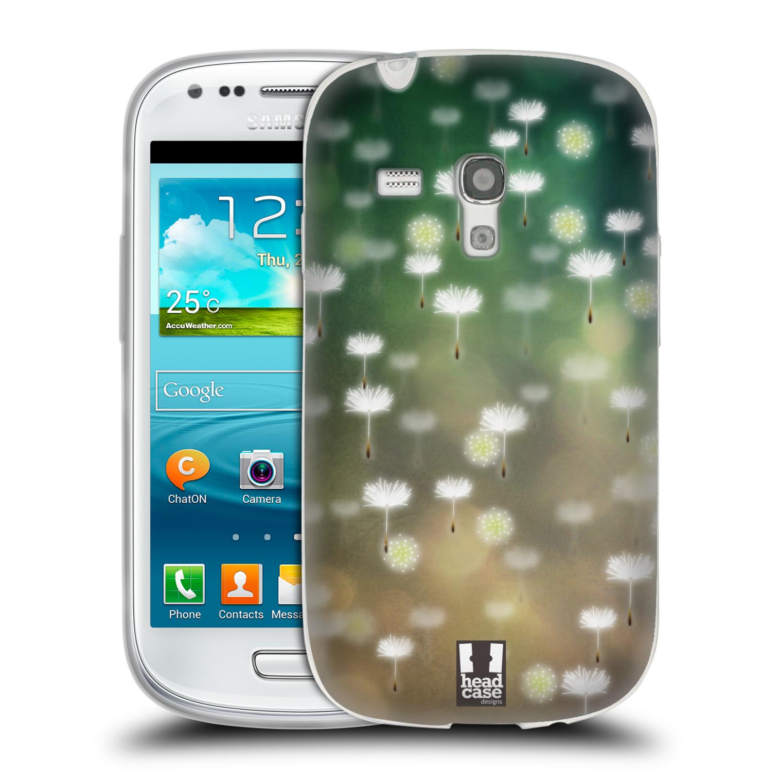 Silikonové pouzdro na mobil Samsung Galaxy S III Mini HEAD CASE Pampeliškové padáčky (Silikonový kryt či obal na mobilní telefon Samsung Galaxy S III Mini GT-i8190)