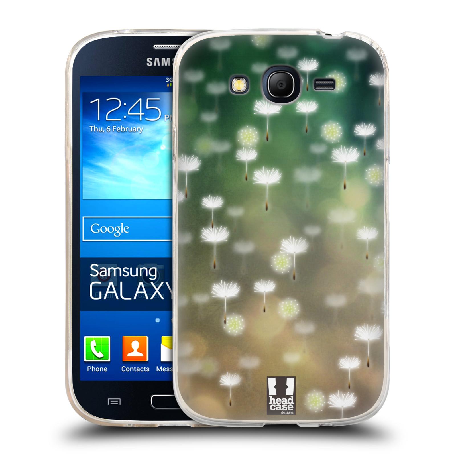 Silikonové pouzdro na mobil Samsung Galaxy Grand Neo HEAD CASE PampeliÅ¡kové padáčky Silikonov½ kryt či