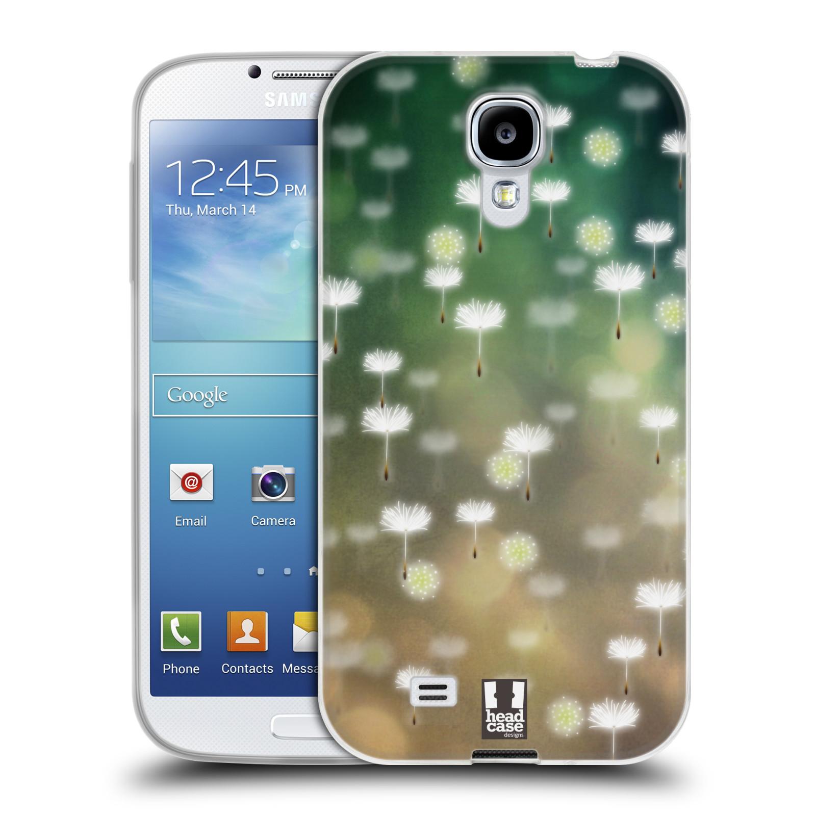 Silikonové pouzdro na mobil Samsung Galaxy S4 HEAD CASE Pampeliškové padáčky (Silikonový kryt či obal na mobilní telefon Samsung Galaxy S4 GT-i9505 / i9500)