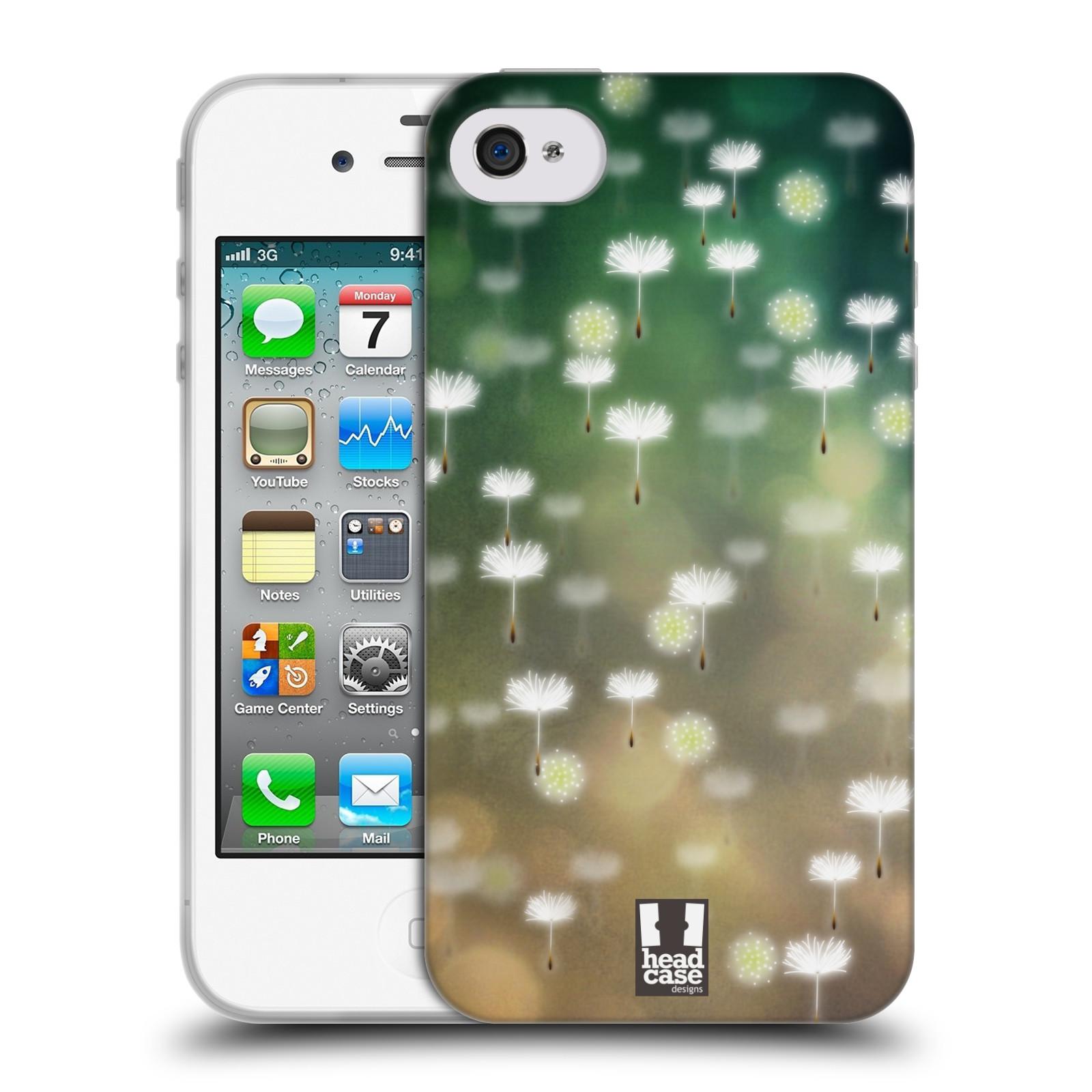 Silikonové pouzdro na mobil Apple iPhone 4 a 4S HEAD CASE Pampeliškové padáčky (Silikonový kryt či obal na mobilní telefon Apple iPhone 4 a 4S)