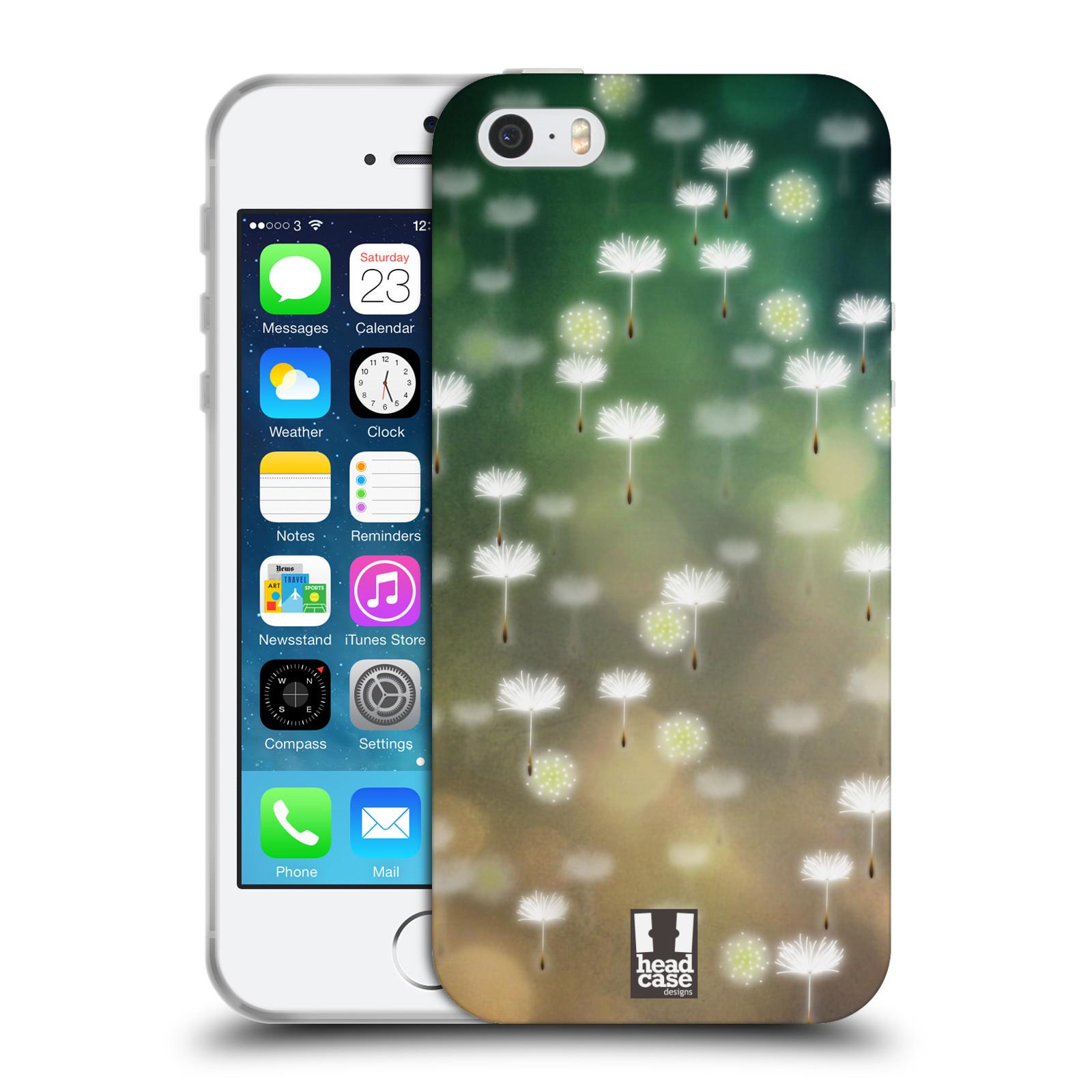 Silikonové pouzdro na mobil Apple iPhone SE, 5 a 5S HEAD CASE Pampeliškové padáčky (Silikonový kryt či obal na mobilní telefon Apple iPhone SE, 5 a 5S)