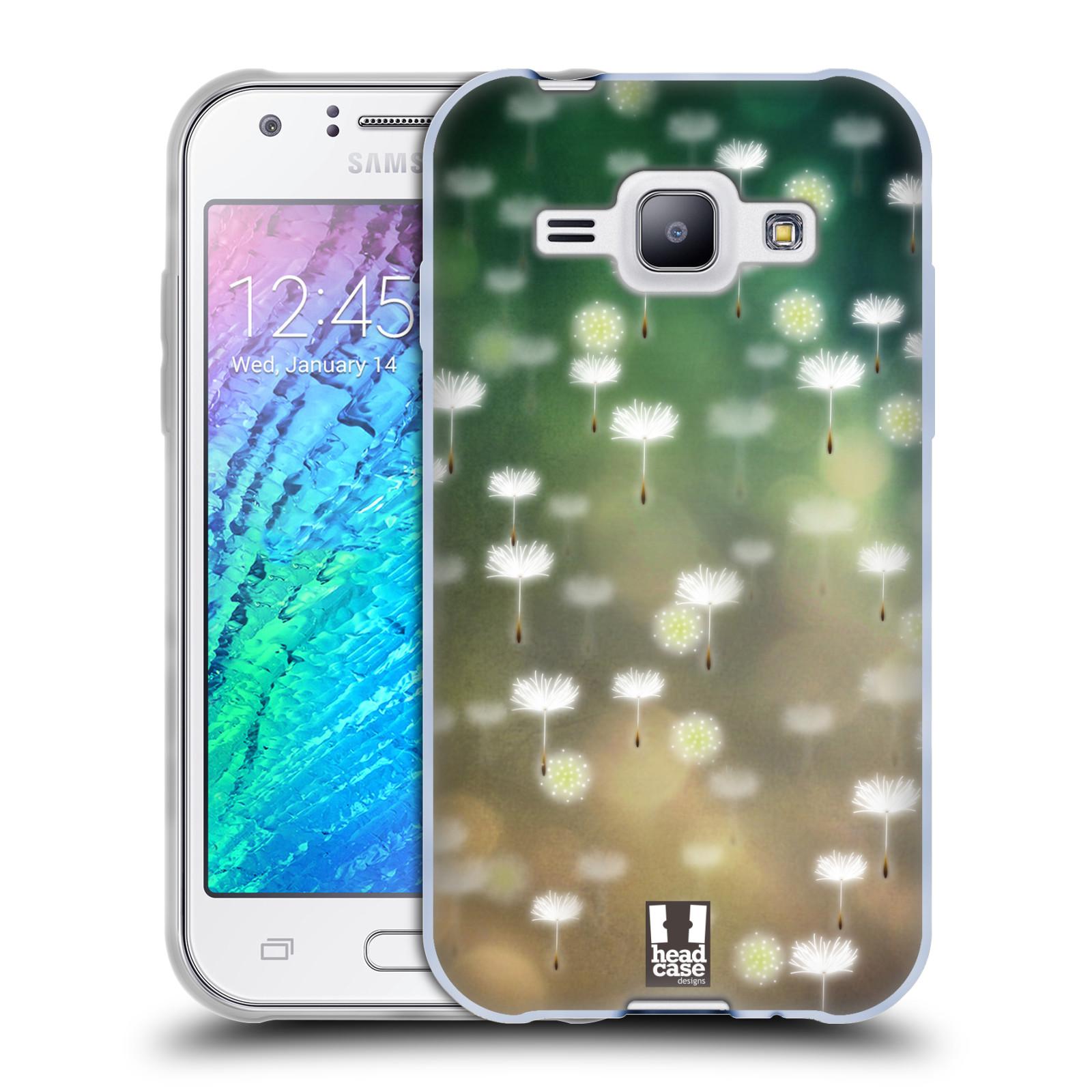 Silikonové pouzdro na mobil Samsung Galaxy J1 HEAD CASE Pampeliškové padáčky (Silikonový kryt či obal na mobilní telefon Samsung Galaxy J1 a J1 Duos)