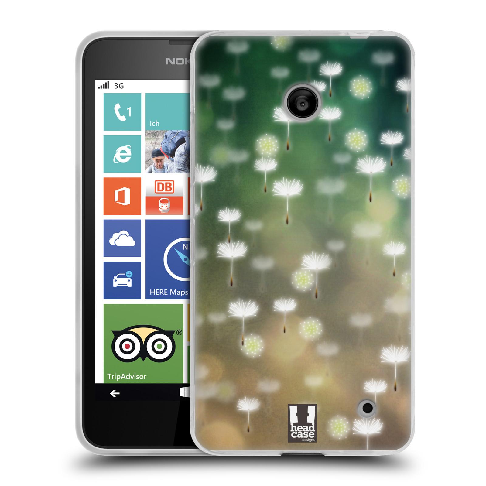 Silikonové pouzdro na mobil Nokia Lumia 630 HEAD CASE Pampeliškové padáčky (Silikonový kryt či obal na mobilní telefon Nokia Lumia 630 a Nokia Lumia 630 Dual SIM)