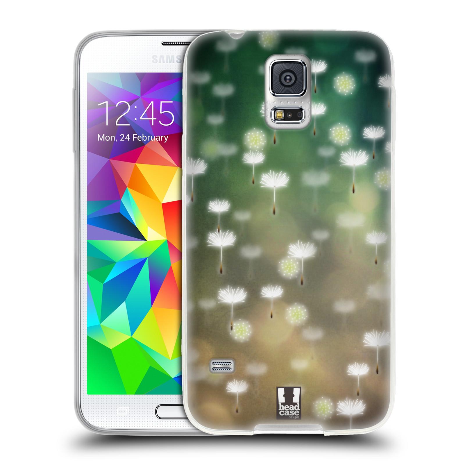 Silikonové pouzdro na mobil Samsung Galaxy S5 HEAD CASE Pampeliškové padáčky (Silikonový kryt či obal na mobilní telefon Samsung Galaxy S5 SM-G900F)