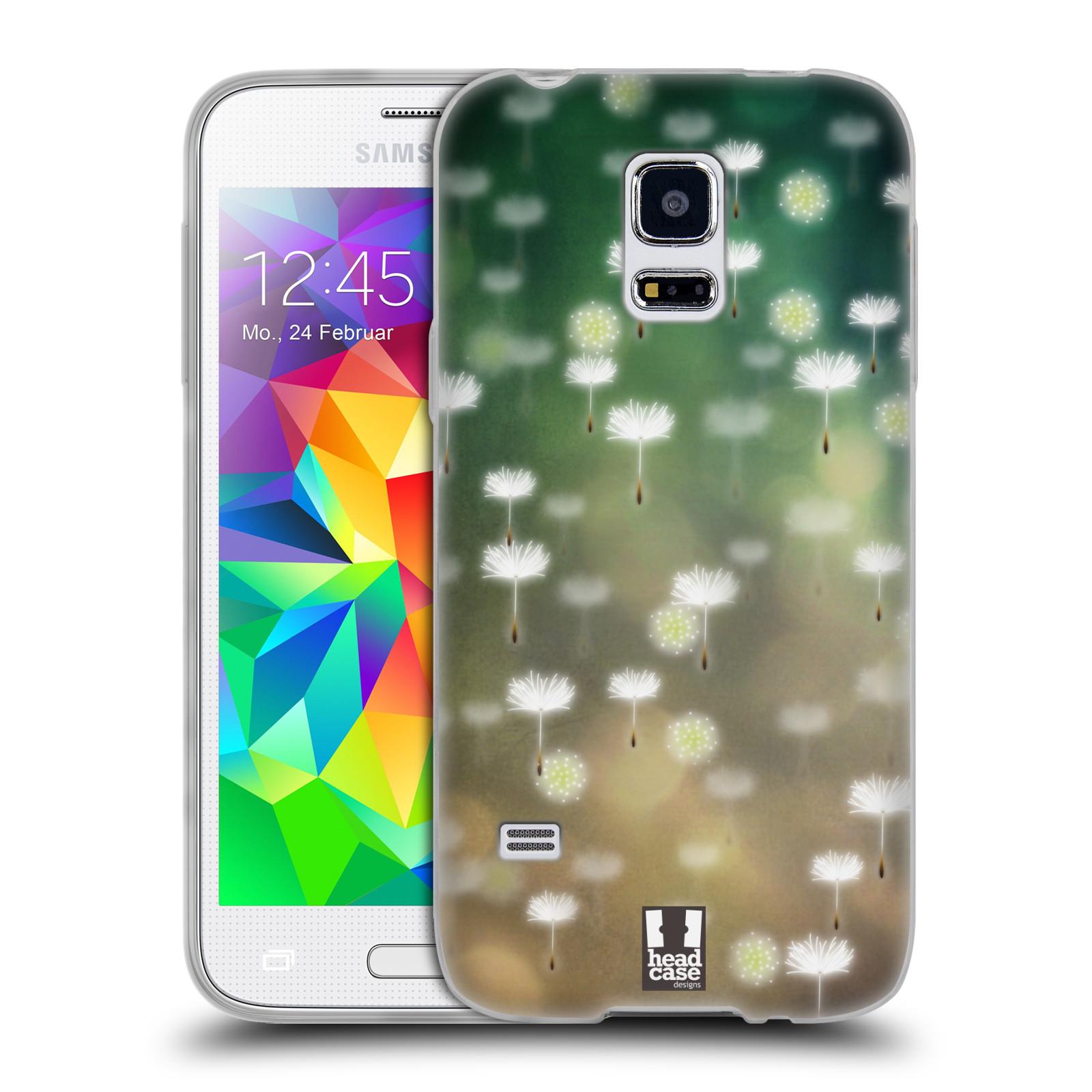 Silikonové pouzdro na mobil Samsung Galaxy S5 Mini HEAD CASE Pampeliškové padáčky (Silikonový kryt či obal na mobilní telefon Samsung Galaxy S5 Mini SM-G800F)
