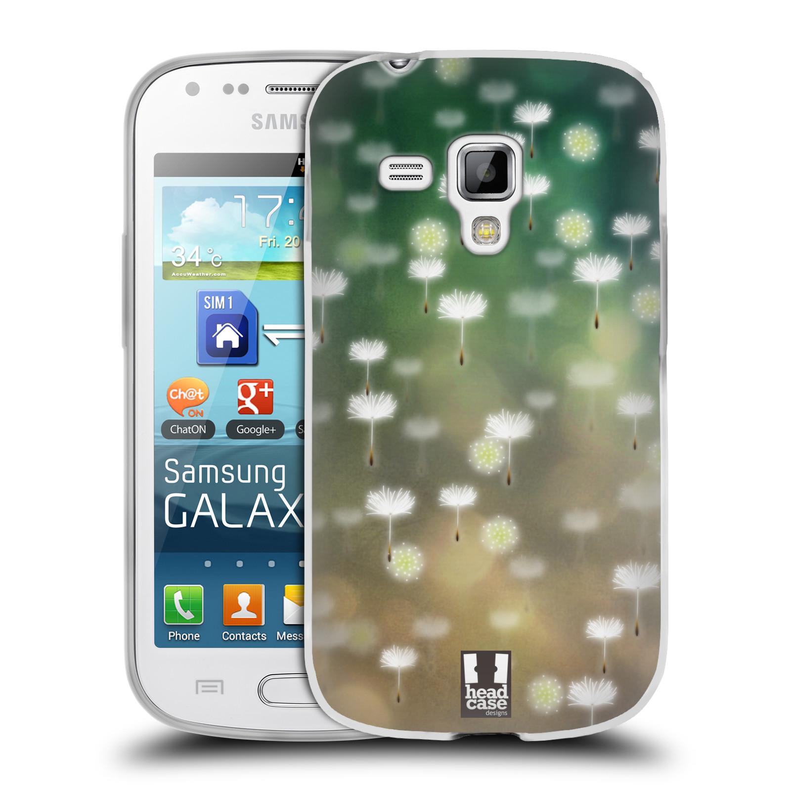 Silikonové pouzdro na mobil Samsung Galaxy S Duos HEAD CASE Pampeliškové padáčky (Silikonový kryt či obal na mobilní telefon Samsung Galaxy S Duos GT-S7562)