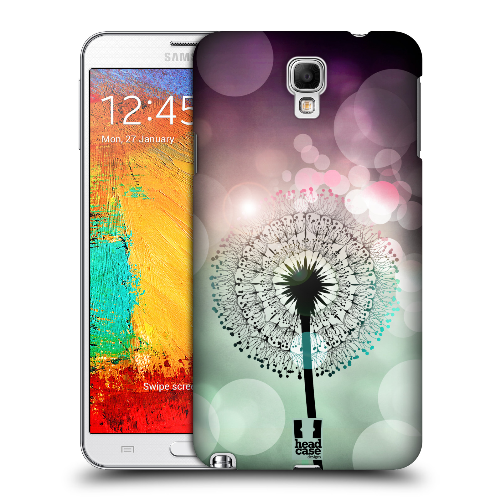 Plastové pouzdro na mobil Samsung Galaxy Note 3 Neo HEAD CASE Pampeliškové odlesky (Kryt či obal na mobilní telefon Samsung Galaxy Note 3 Neo SM-N7505)