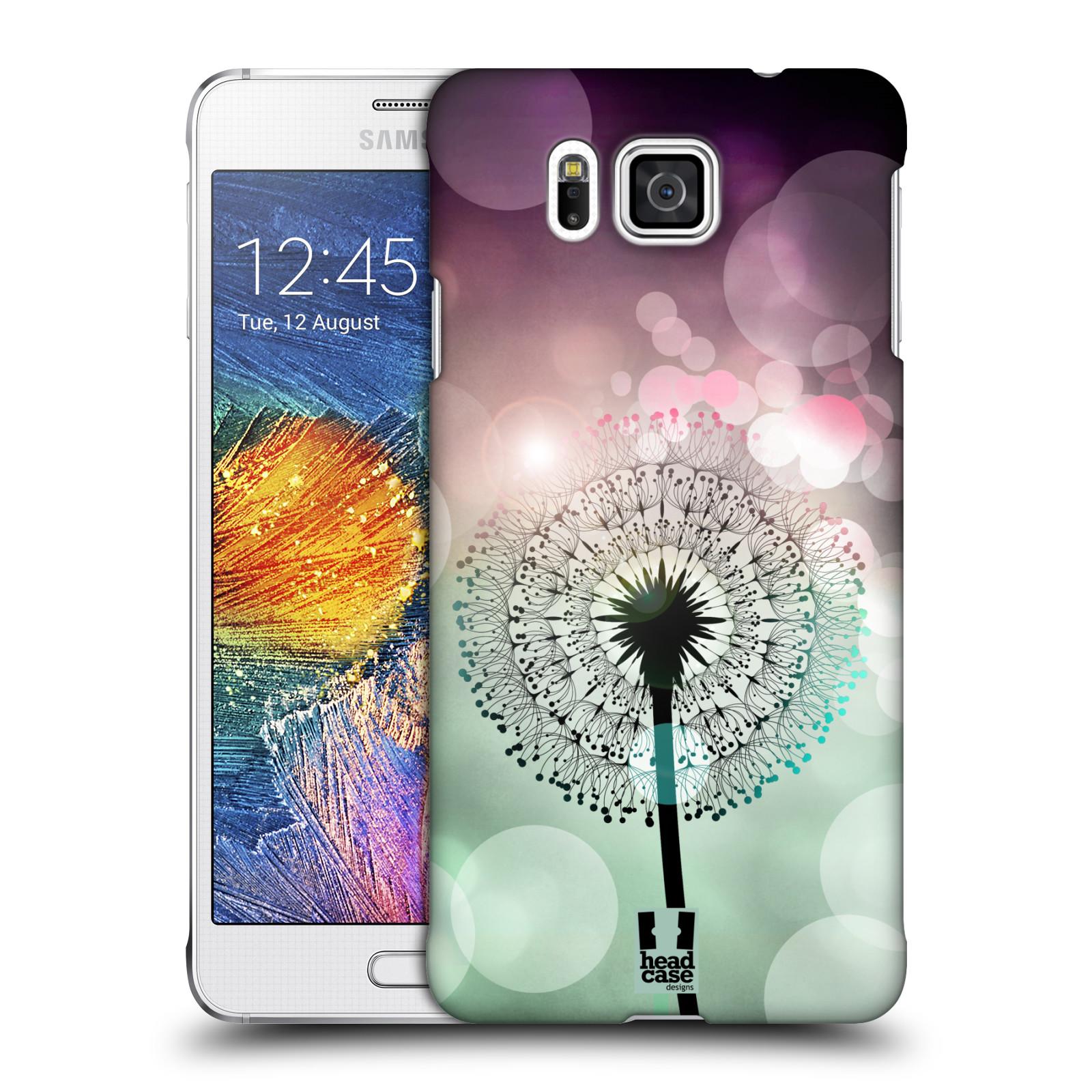 Plastové pouzdro na mobil Samsung Galaxy Alpha HEAD CASE Pampeliškové odlesky
