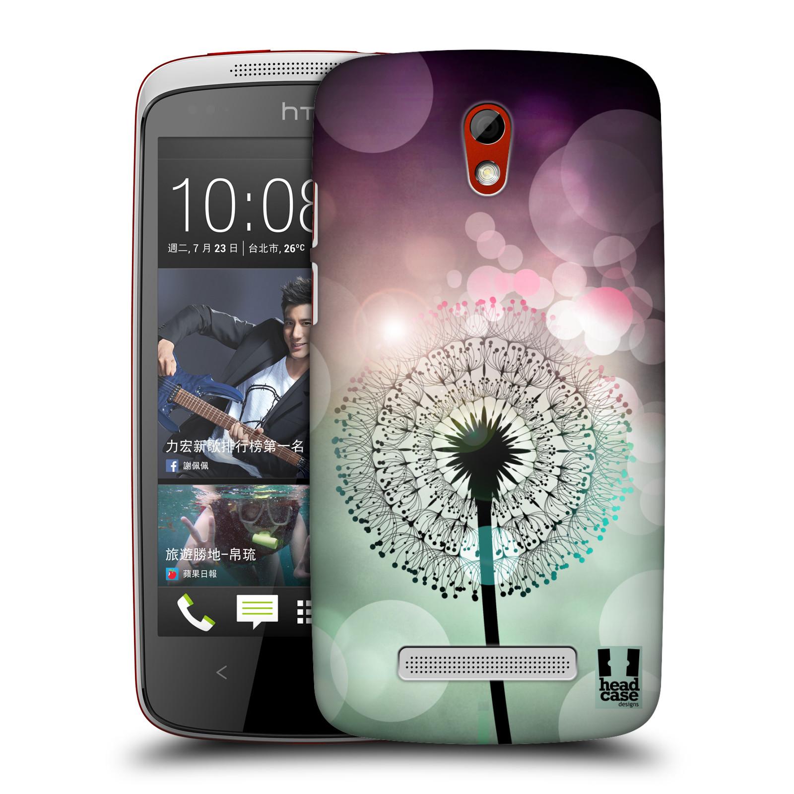 Plastové pouzdro na mobil HTC Desire 500 HEAD CASE Pampeliškové odlesky (Kryt či obal na mobilní telefon HTC Desire 500)