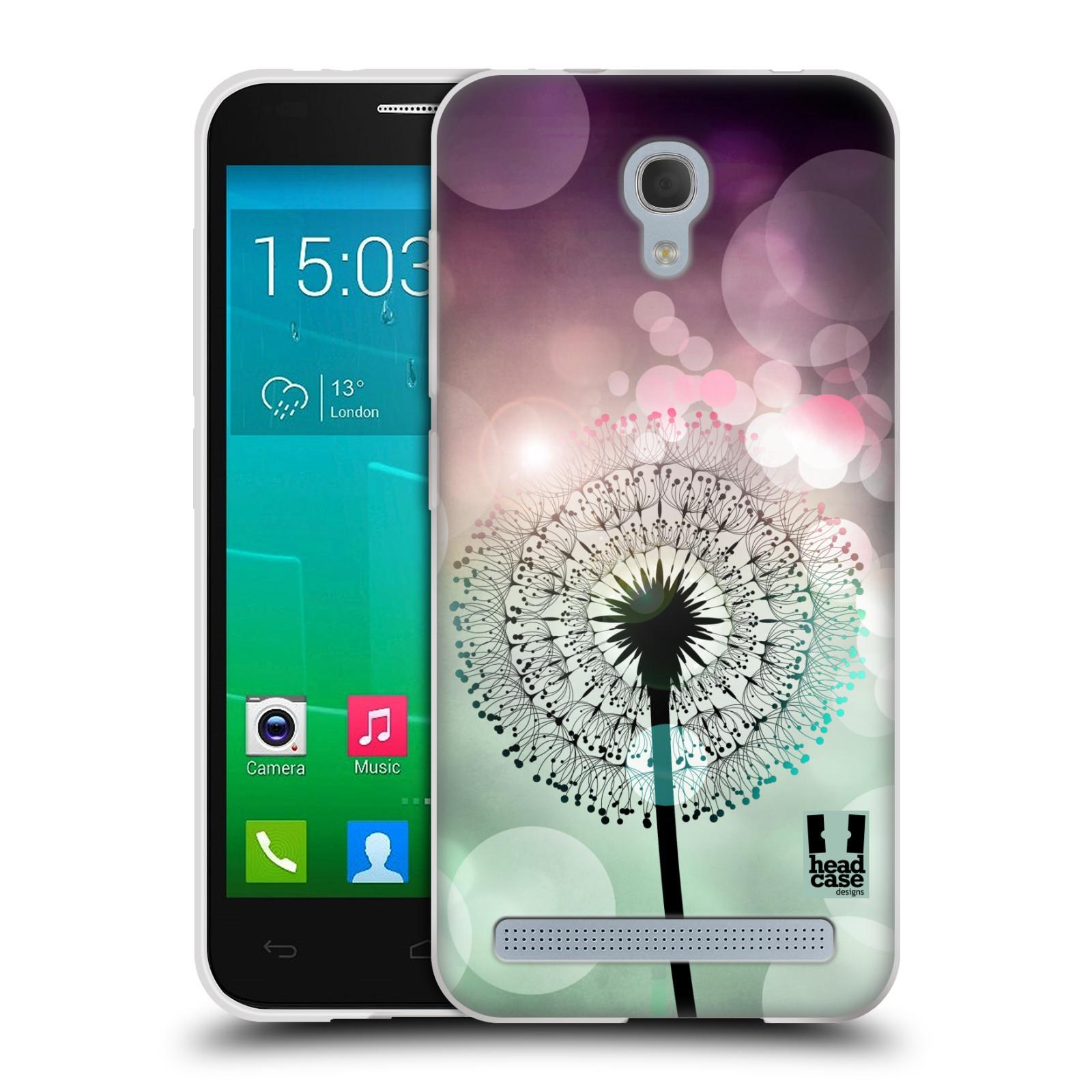Silikonové pouzdro na mobil Alcatel One Touch Idol 2 Mini S 6036Y HEAD CASE Pampeliškové odlesky (Silikonový kryt či obal na mobilní telefon Alcatel Idol 2 Mini S OT-6036Y)