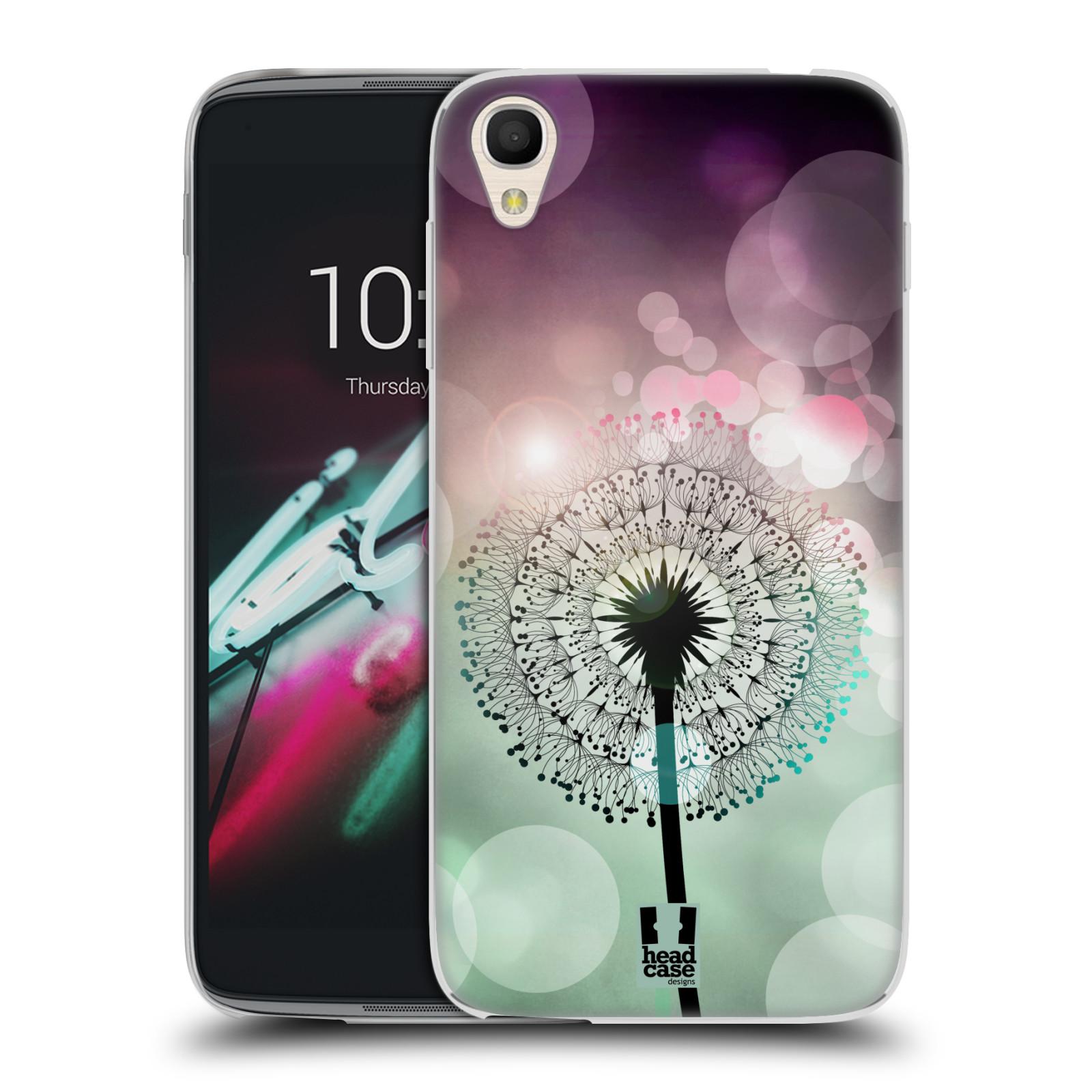 """Silikonové pouzdro na mobil Alcatel One Touch 6039Y Idol 3 HEAD CASE Pampeliškové odlesky (Silikonový kryt či obal na mobilní telefon Alcatel One Touch Idol 3 OT-6039Y s 4,7"""" displejem)"""