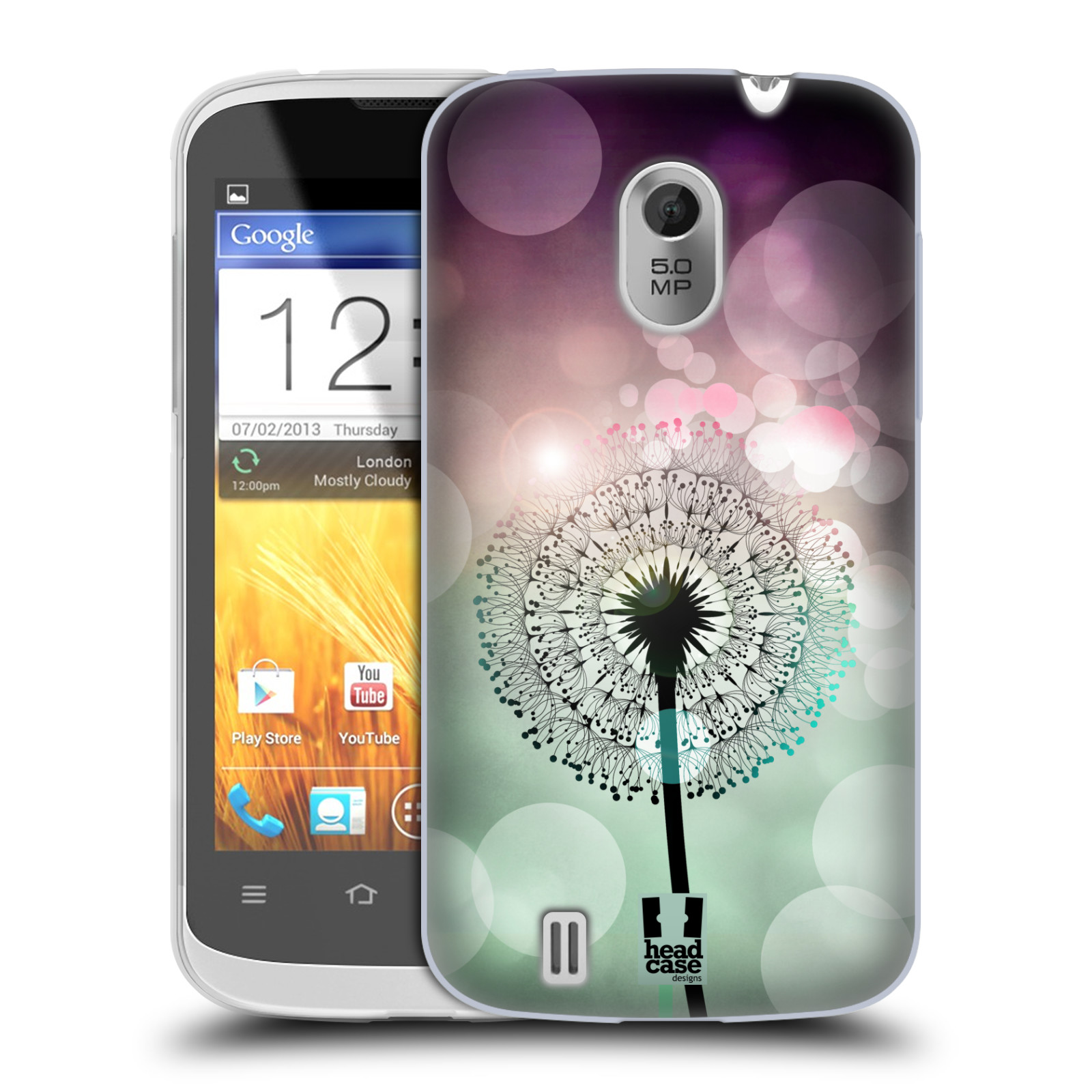 Silikonové pouzdro na mobil ZTE Blade III HEAD CASE Pampeliškové odlesky (Silikonový kryt či obal na mobilní telefon ZTE Blade 3)