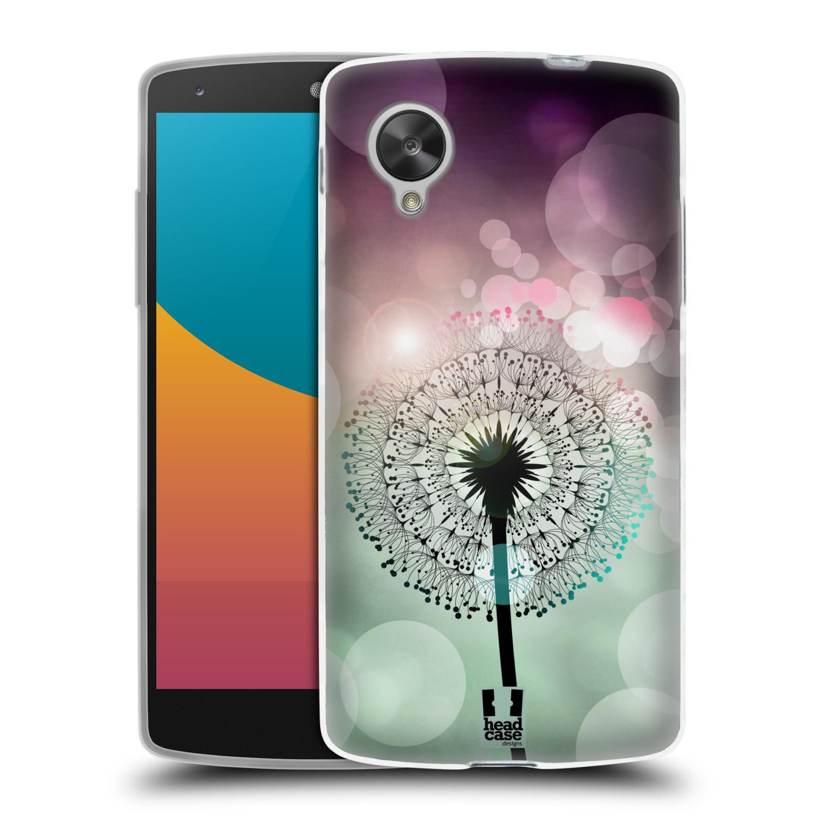 Silikonové pouzdro na mobil LG Nexus 5 HEAD CASE Pampeliškové odlesky (Silikonový kryt či obal na mobilní telefon LG Google Nexus 5 D821)