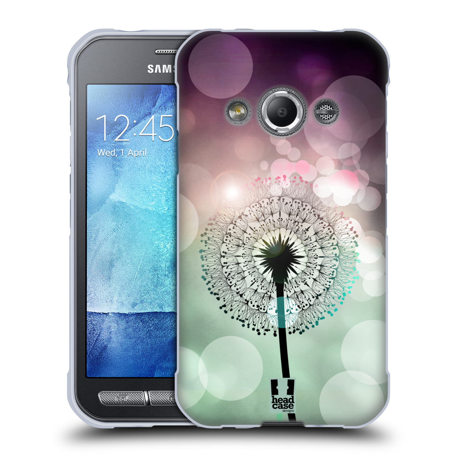 Silikonové pouzdro na mobil Samsung Galaxy Xcover 3 HEAD CASE Pampeliškové odlesky (Silikonový kryt či obal na mobilní telefon Samsung Galaxy Xcover 3 SM-G388F)