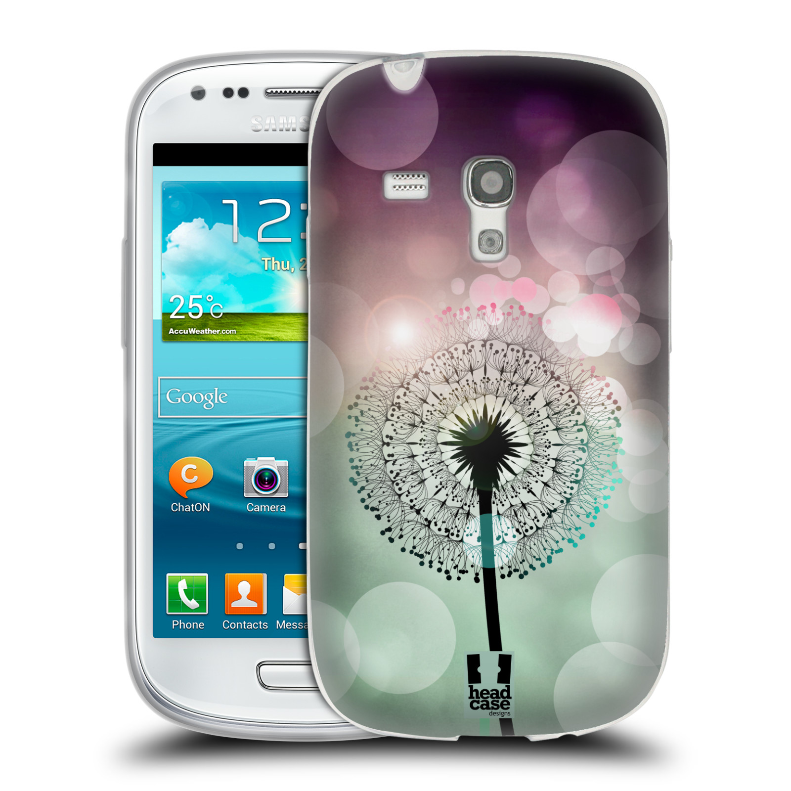 Silikonové pouzdro na mobil Samsung Galaxy S III Mini HEAD CASE Pampeliškové odlesky (Silikonový kryt či obal na mobilní telefon Samsung Galaxy S III Mini GT-i8190)