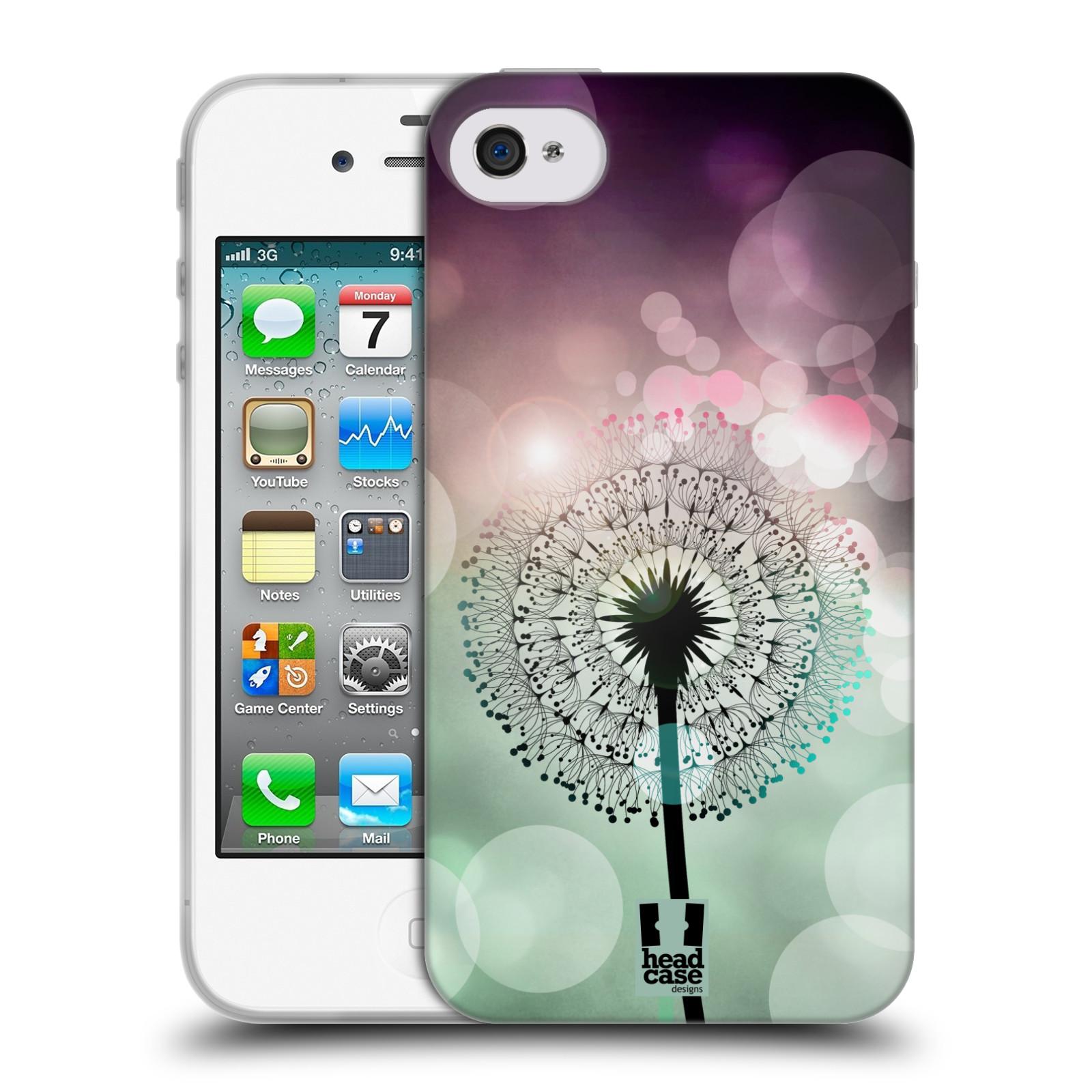 Silikonové pouzdro na mobil Apple iPhone 4 a 4S HEAD CASE Pampeliškové odlesky (Silikonový kryt či obal na mobilní telefon Apple iPhone 4 a 4S)