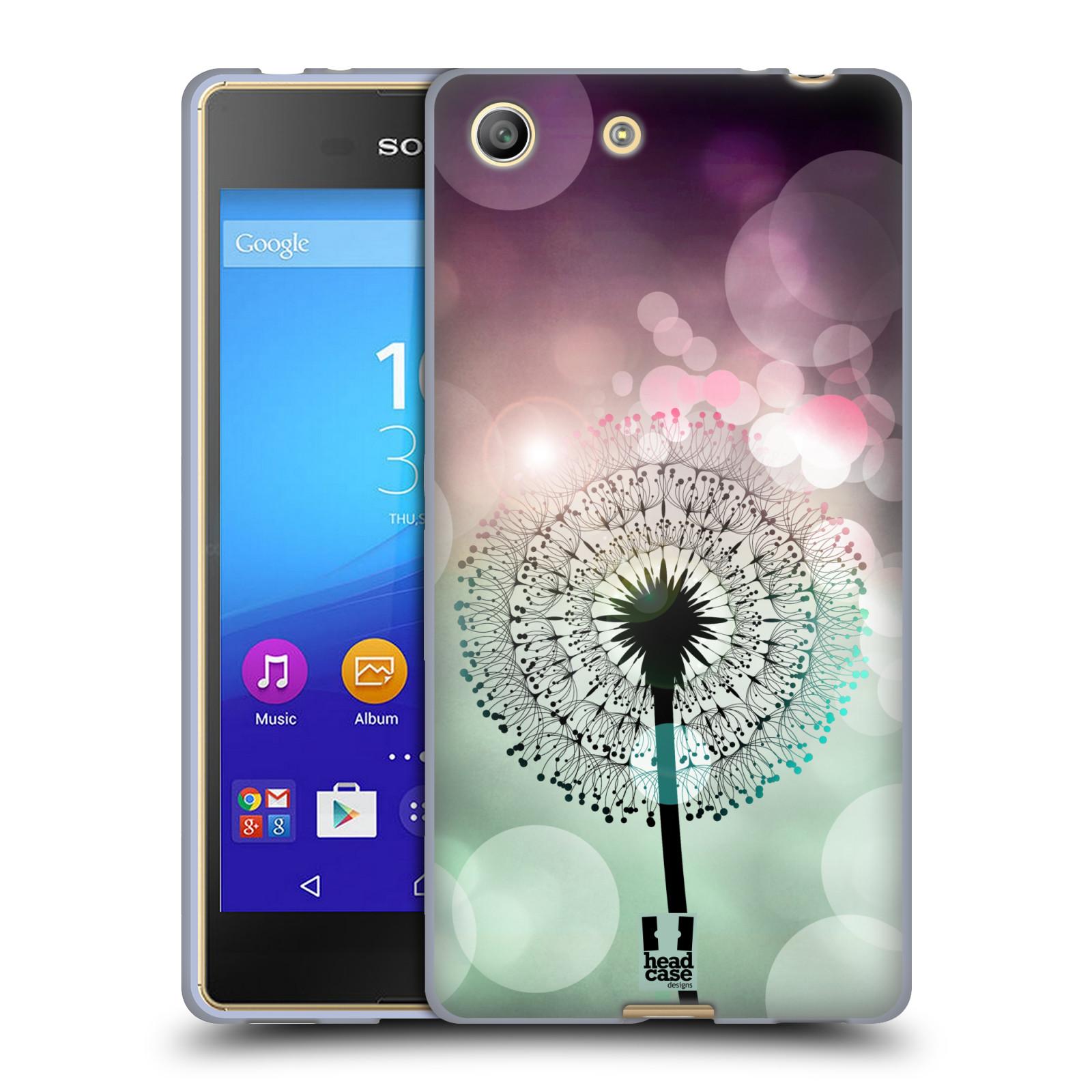 Silikonové pouzdro na mobil Sony Xperia M5 HEAD CASE Pampeliškové odlesky (Silikonový kryt či obal na mobilní telefon Sony Xperia M5 Dual SIM / Aqua)