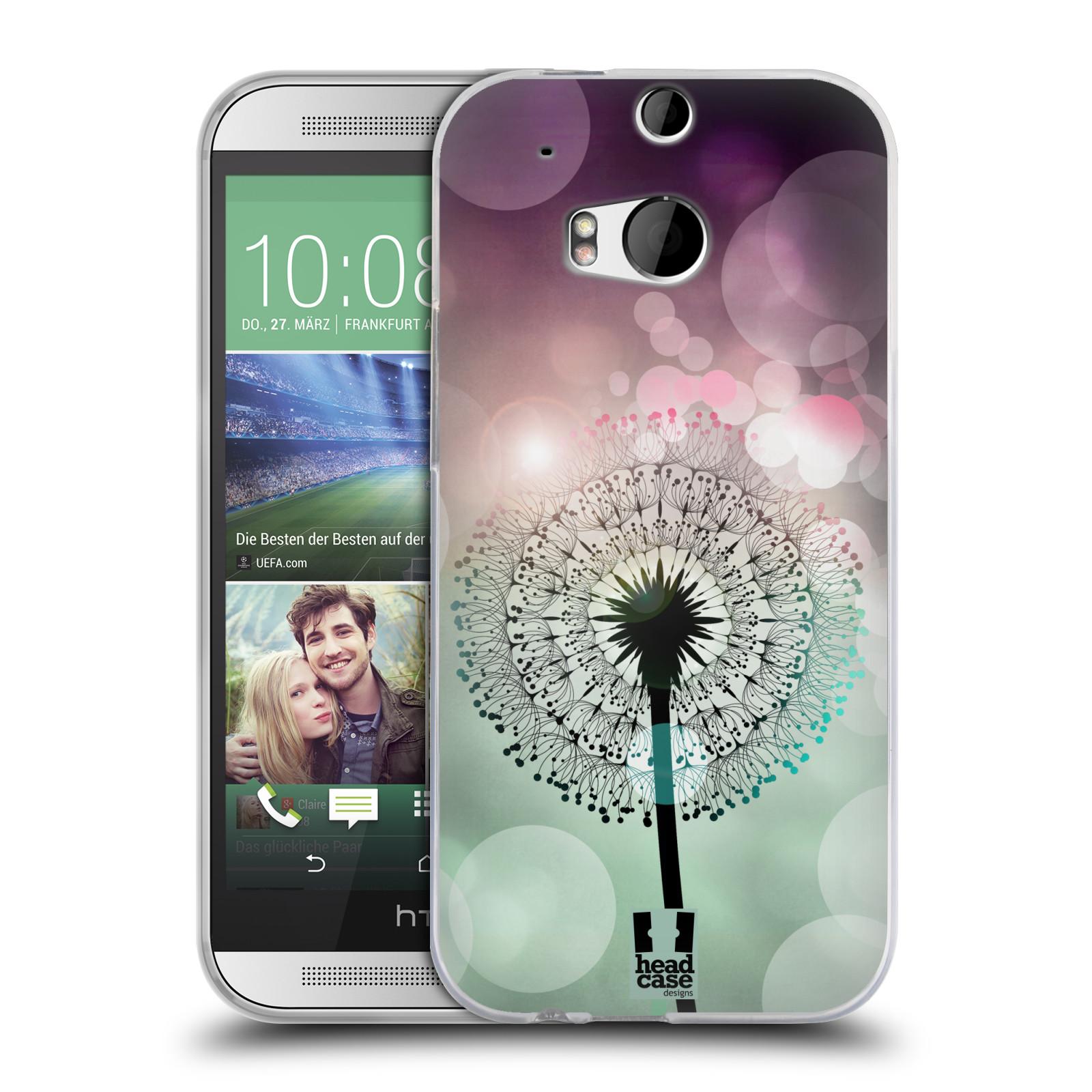 Silikonové pouzdro na mobil HTC ONE M8 HEAD CASE Pampeliškové odlesky