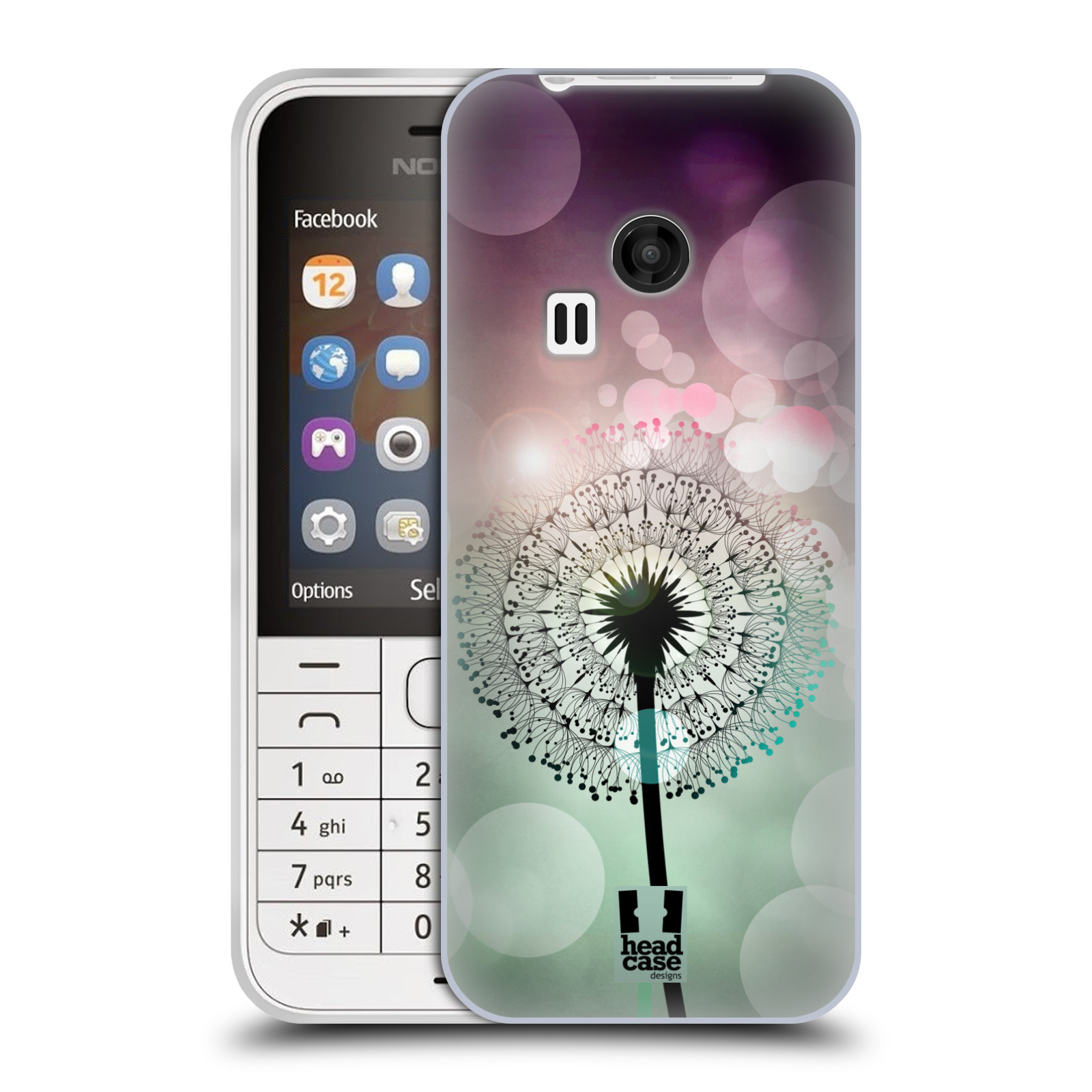 Silikonové pouzdro na mobil Nokia 220 HEAD CASE Pampeliškové odlesky (Silikonový kryt či obal na mobilní telefon Nokia 220 a 220 Dual SIM)