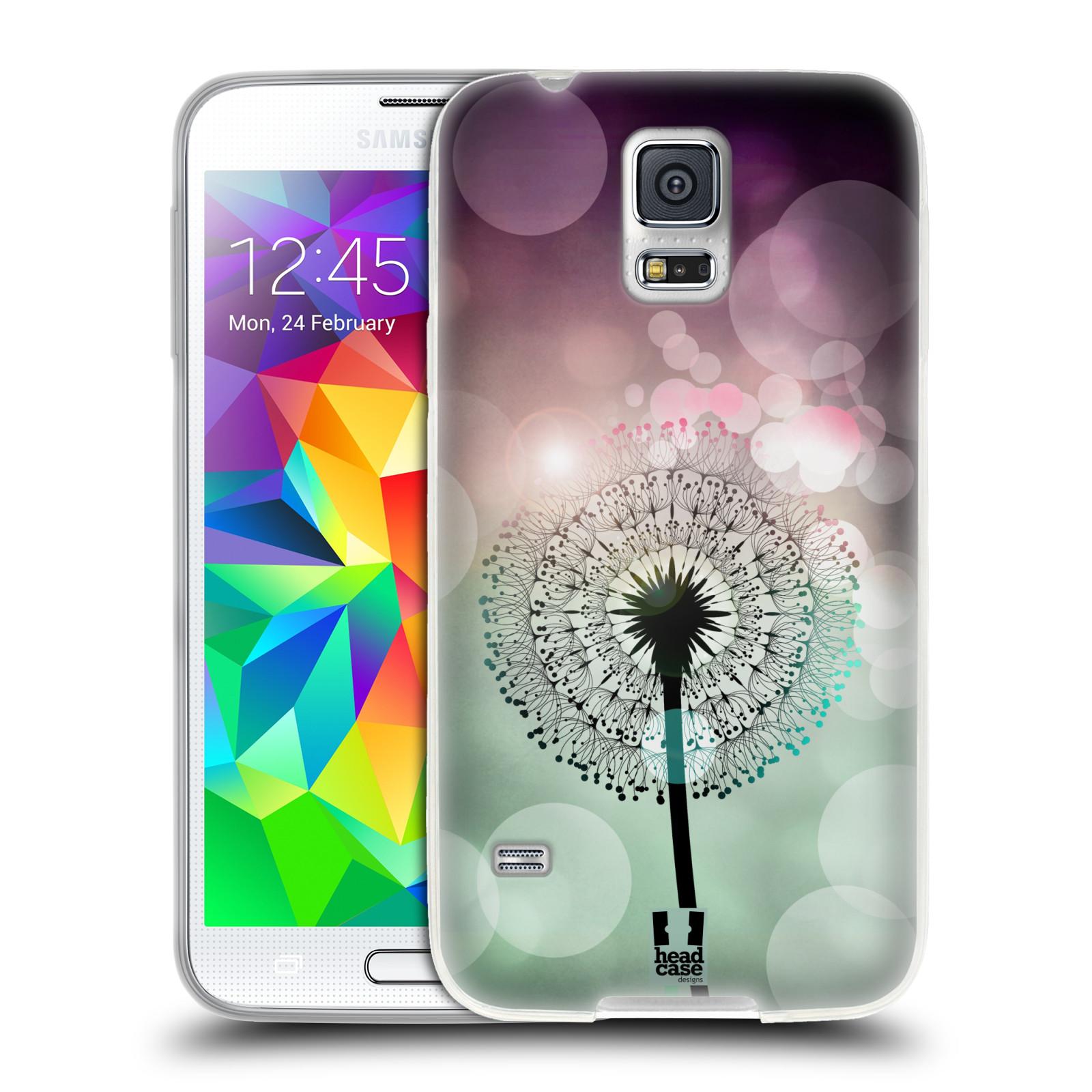 Silikonové pouzdro na mobil Samsung Galaxy S5 HEAD CASE Pampeliškové odlesky (Silikonový kryt či obal na mobilní telefon Samsung Galaxy S5 SM-G900F)