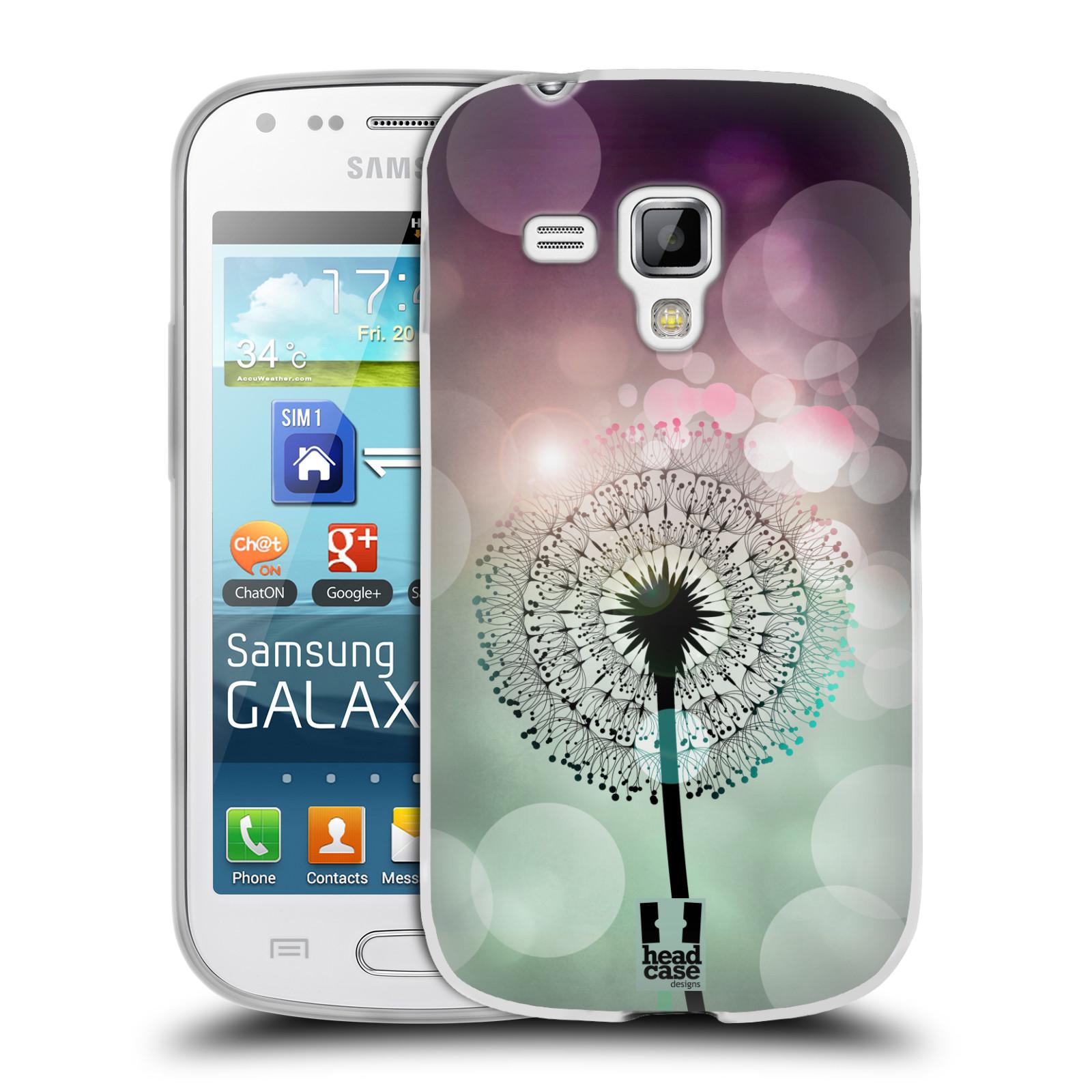 Silikonové pouzdro na mobil Samsung Galaxy S Duos HEAD CASE Pampeliškové odlesky (Silikonový kryt či obal na mobilní telefon Samsung Galaxy S Duos GT-S7562)