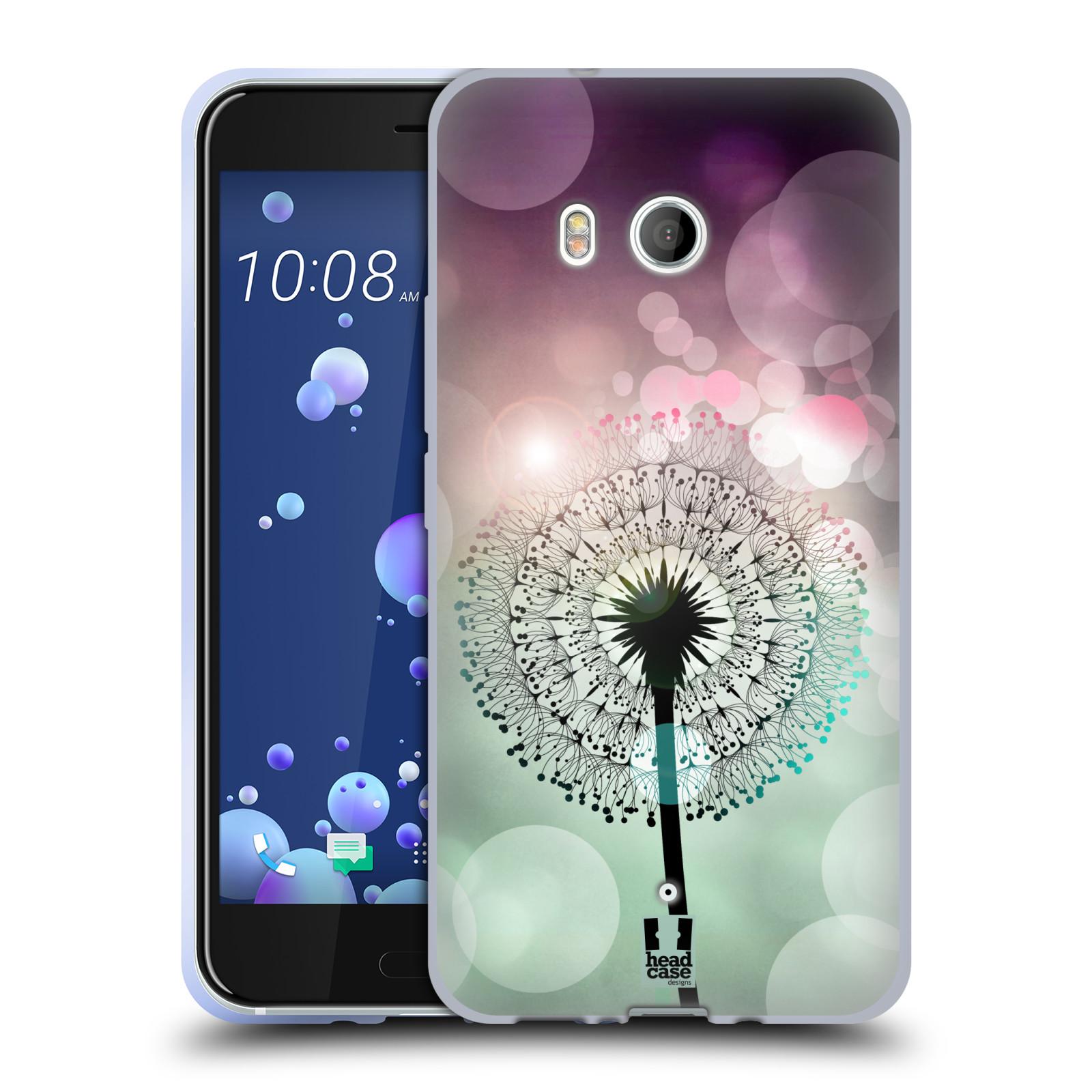 Silikonové pouzdro na mobil HTC U11 - Head Case - Pampeliškové odlesky
