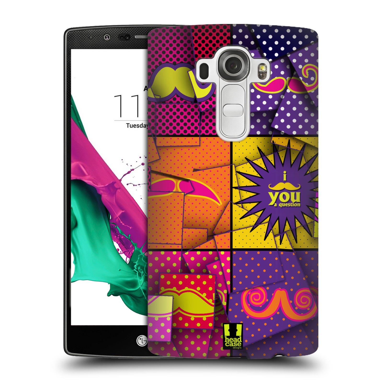 Plastové pouzdro na mobil LG G4 HEAD CASE POP ART KNÍRY (Kryt či obal na mobilní telefon LG G4 H815)