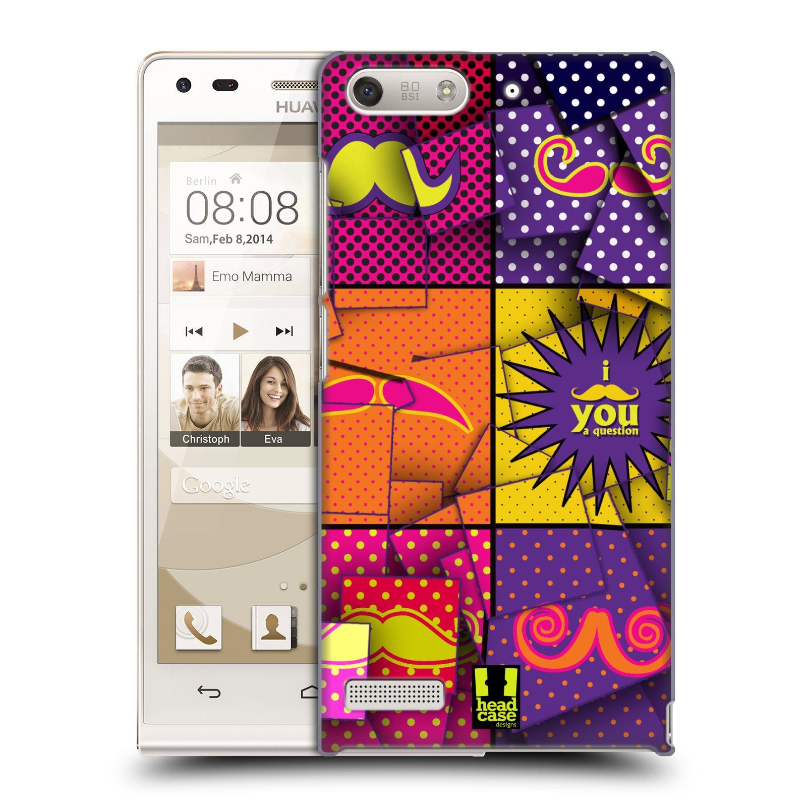 Plastové pouzdro na mobil Huawei Ascend G6 HEAD CASE POP ART KNÍRY (Kryt či obal na mobilní telefon Huawei Ascend G6 bez LTE)