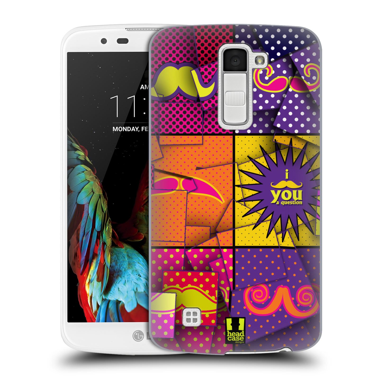 Plastové pouzdro na mobil LG K10 HEAD CASE POP ART KNÍRY (Kryt či obal na mobilní telefon LG K10)