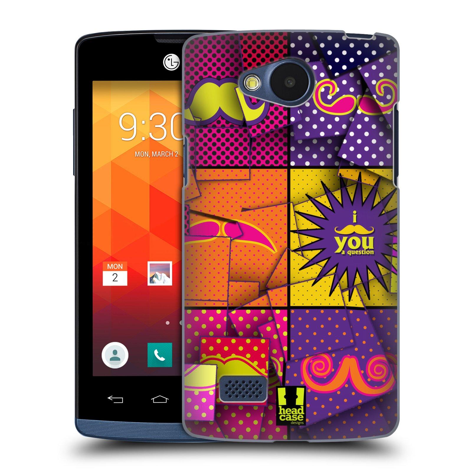 Plastové pouzdro na mobil LG Joy HEAD CASE POP ART KNÍRY (Kryt či obal na mobilní telefon LG Joy H220)