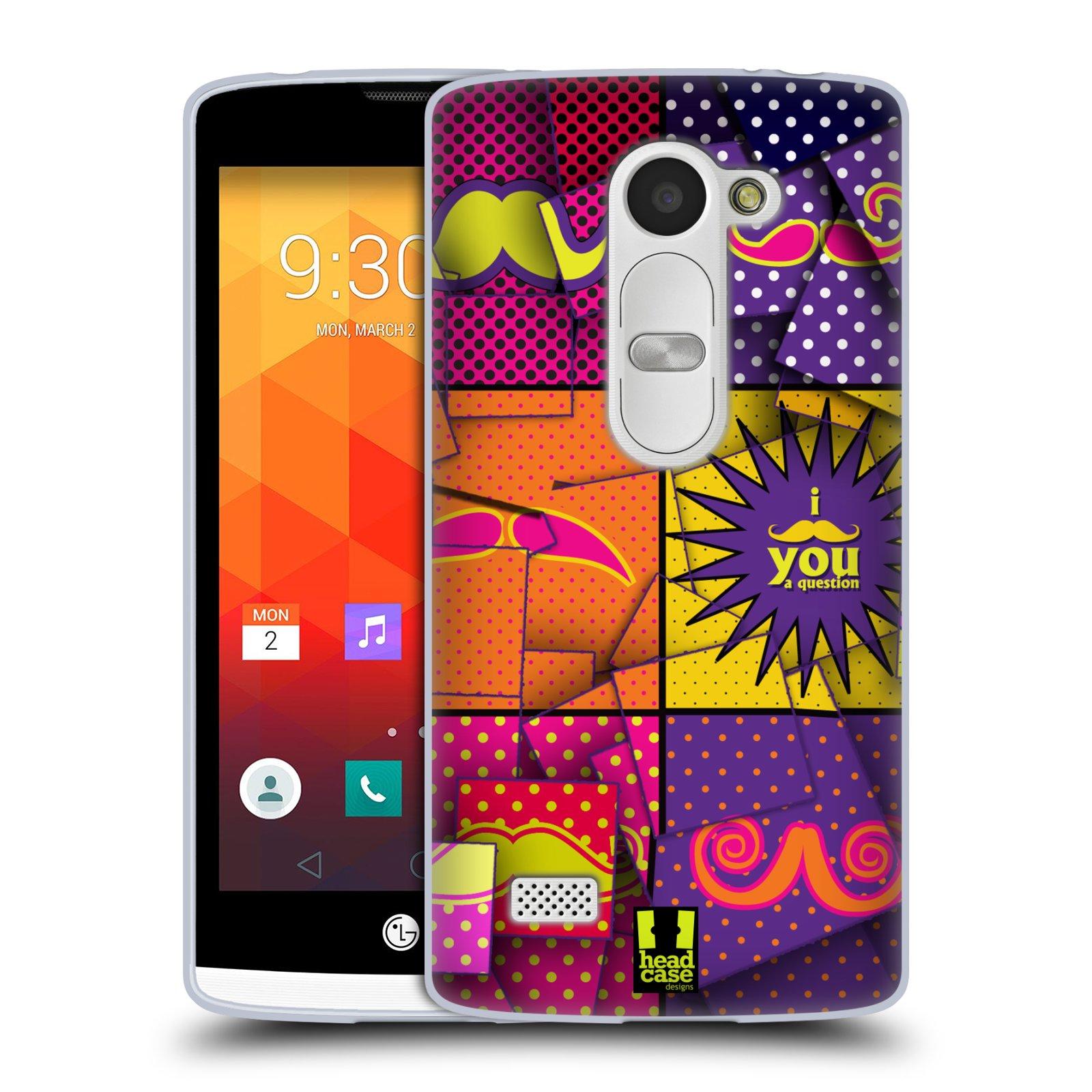Silikonové pouzdro na mobil LG Leon LTE HEAD CASE POP ART KNÍRY (Silikonový kryt či obal na mobilní telefon LG Leon H320 a LG Leon LTE H340N)